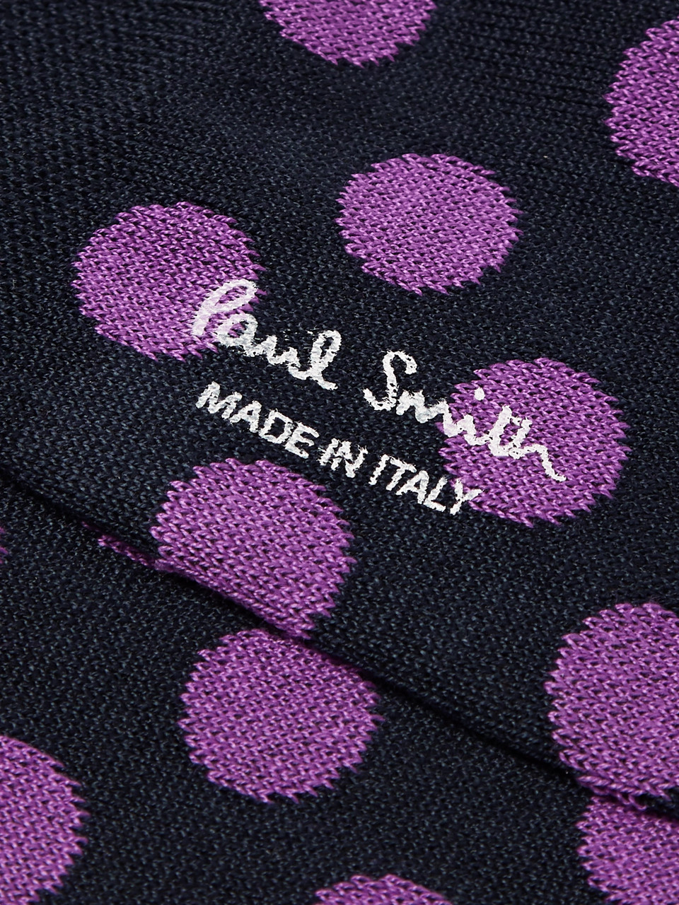 Paul Smith Polka-Dot Mercerised Stretch Cotton-Blend No-Show Socks