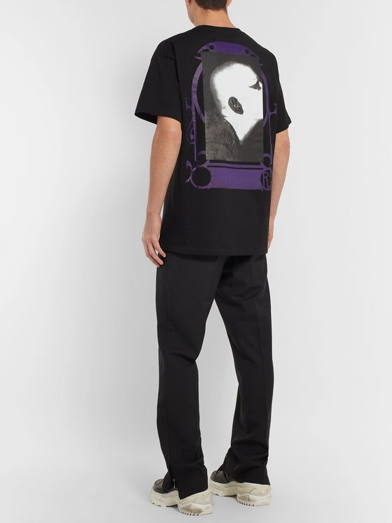 Raf Simons Oversized Printed Cotton-Jersey T-Shirt