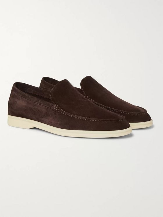 Loro Piana Summer Walk Suede Loafers