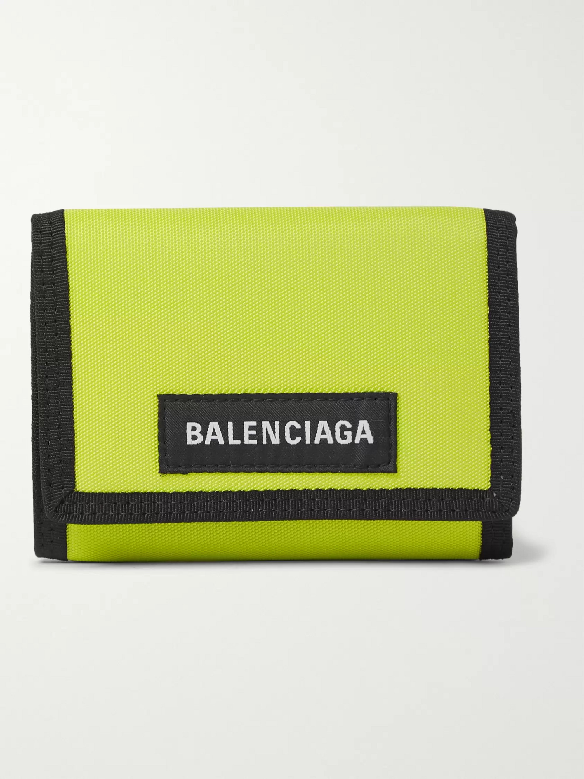 Balenciaga Explorer Canvas Trifold Wallet