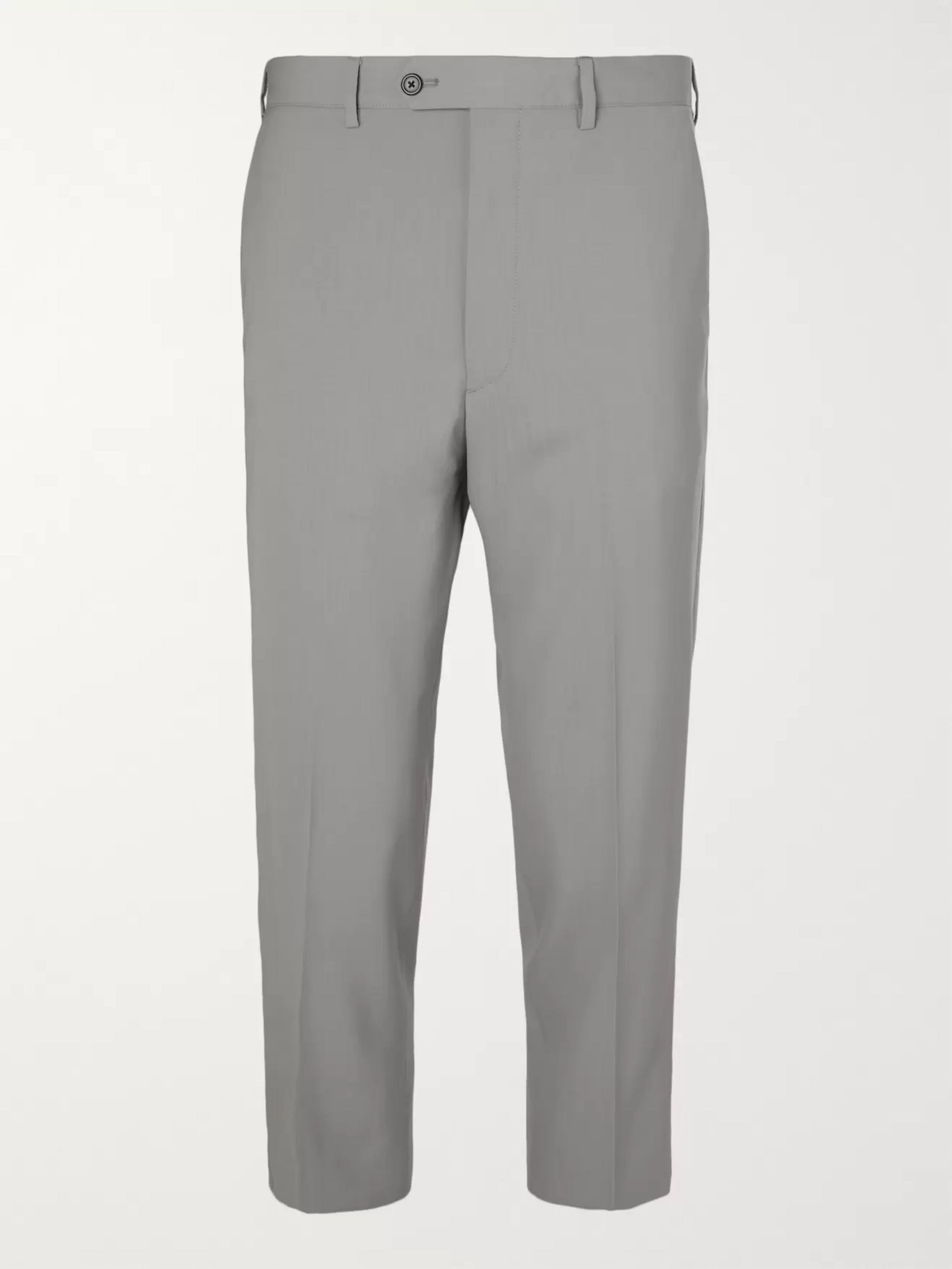 Prada Cropped Virgin Wool Trousers