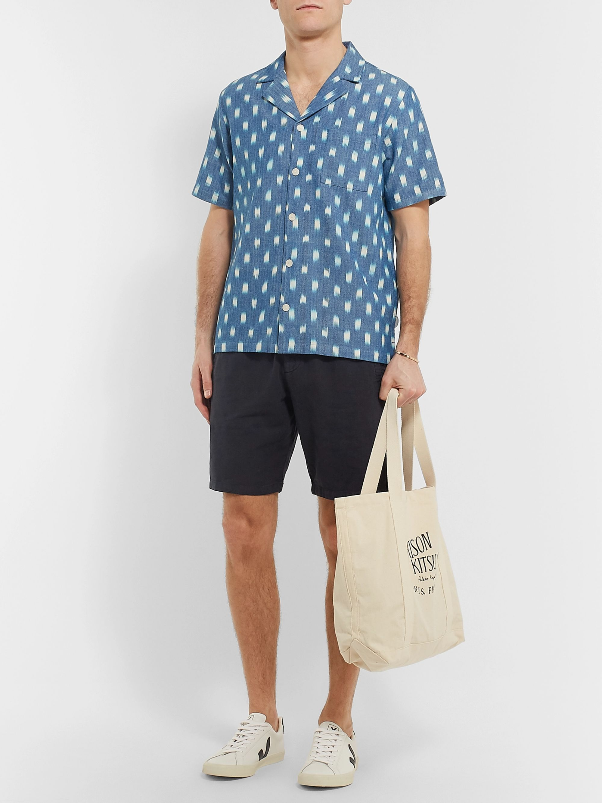 Folk Garment-Dyed Linen and Cotton-Blend Drawstring Shorts