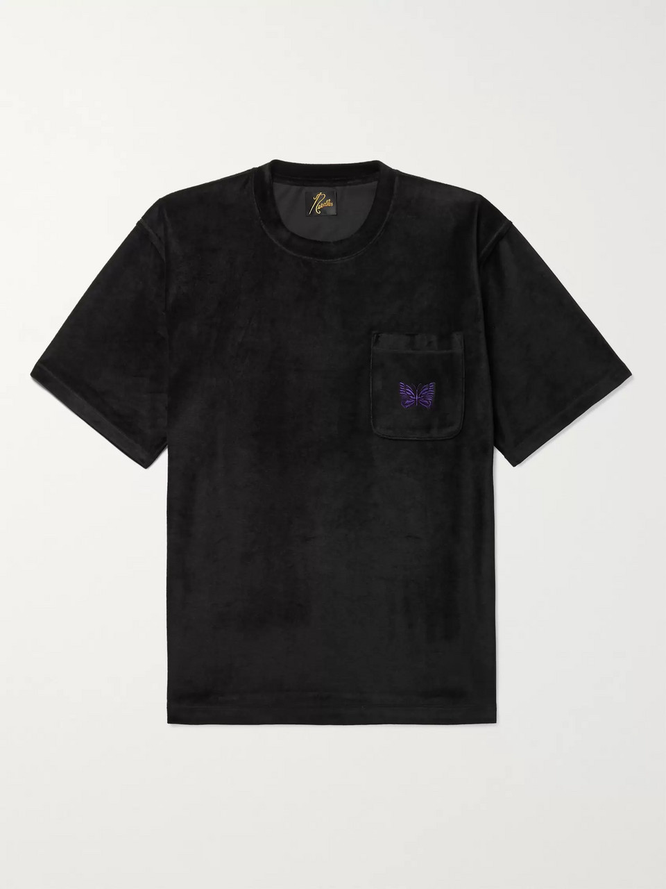 Needles Embroidered Velour T-Shirt