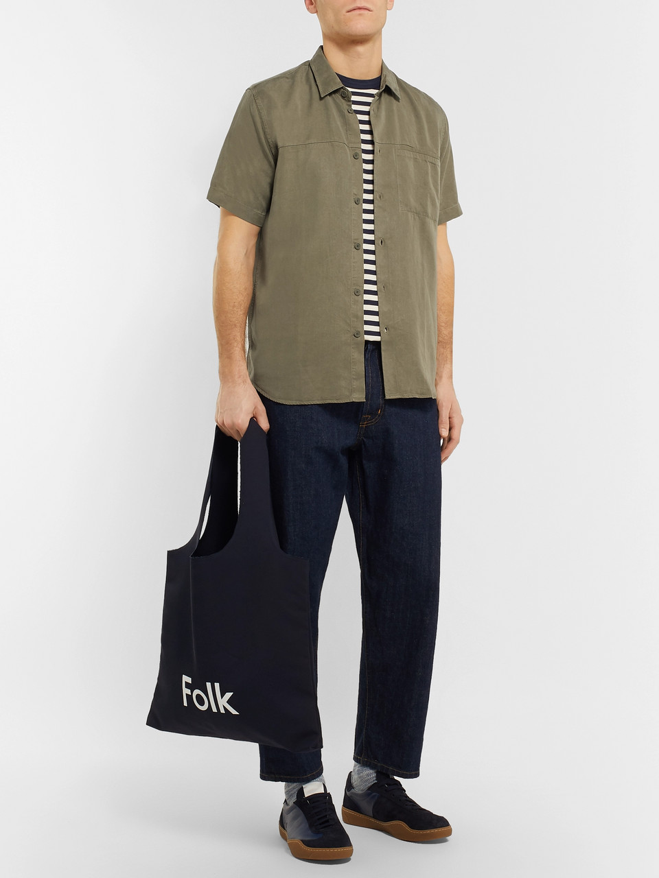 Folk Burner Garment-Dyed Lyocell Shirt
