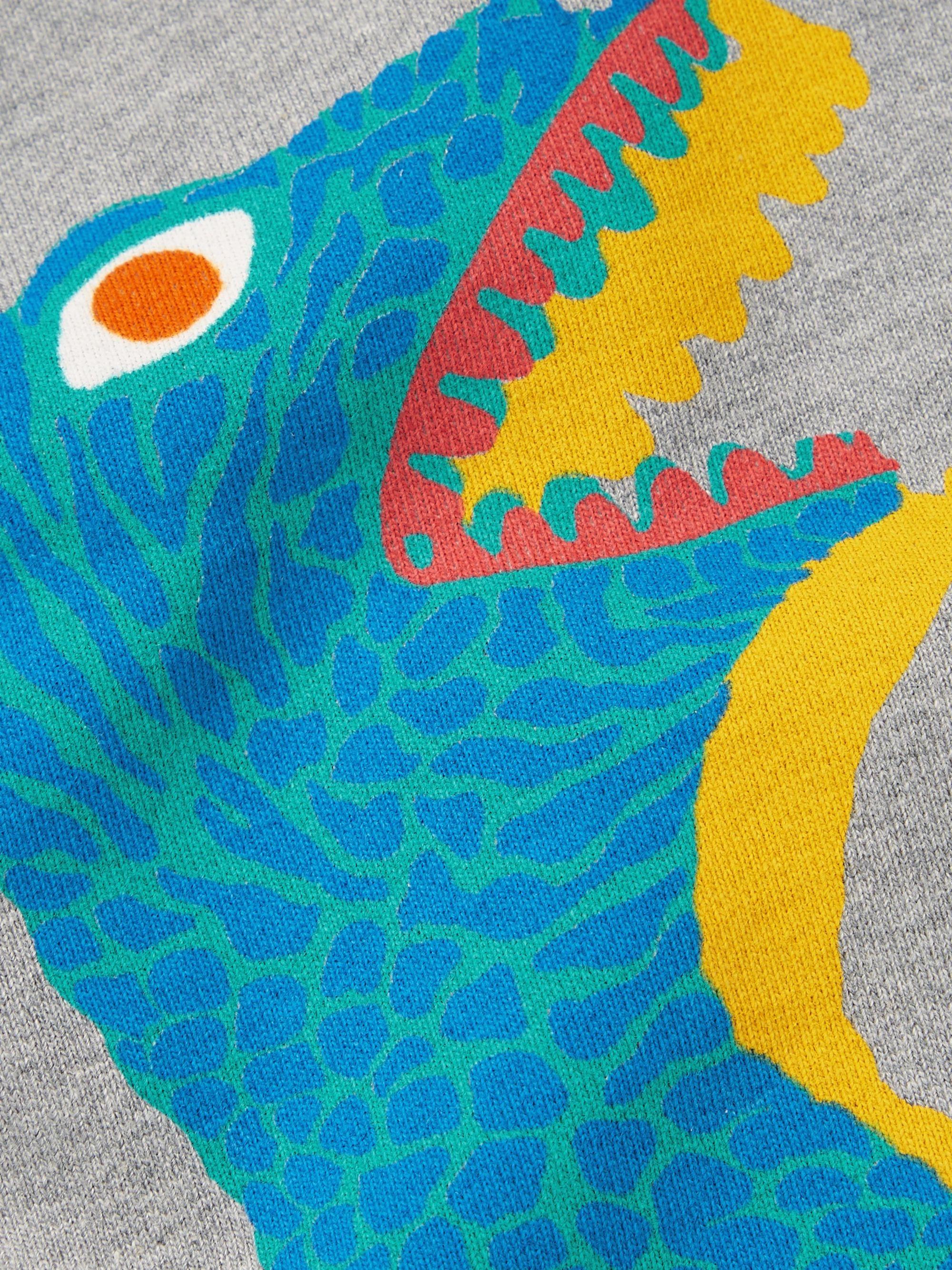 Printed Organic Loopback Cotton Jersey Sweatshirt