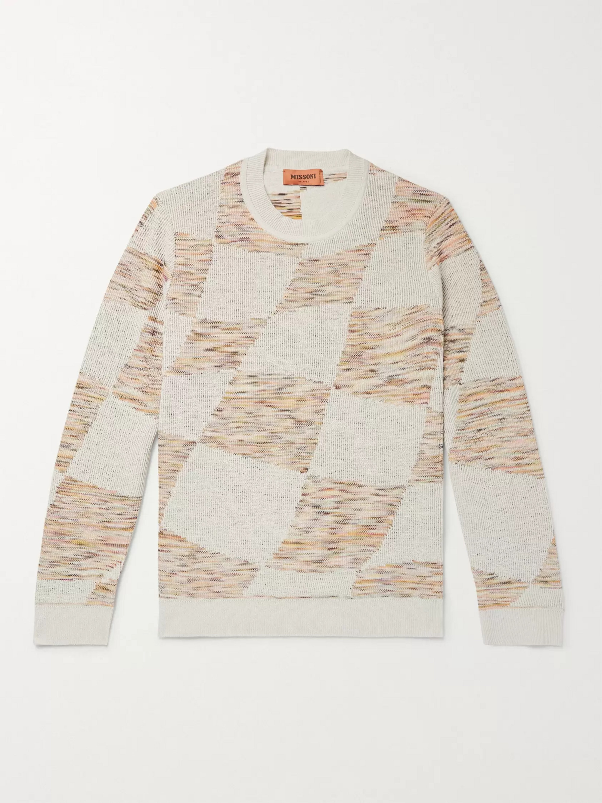 Missoni Slim-Fit Space-Dyed Double-Faced Intarsia-Knit Sweater