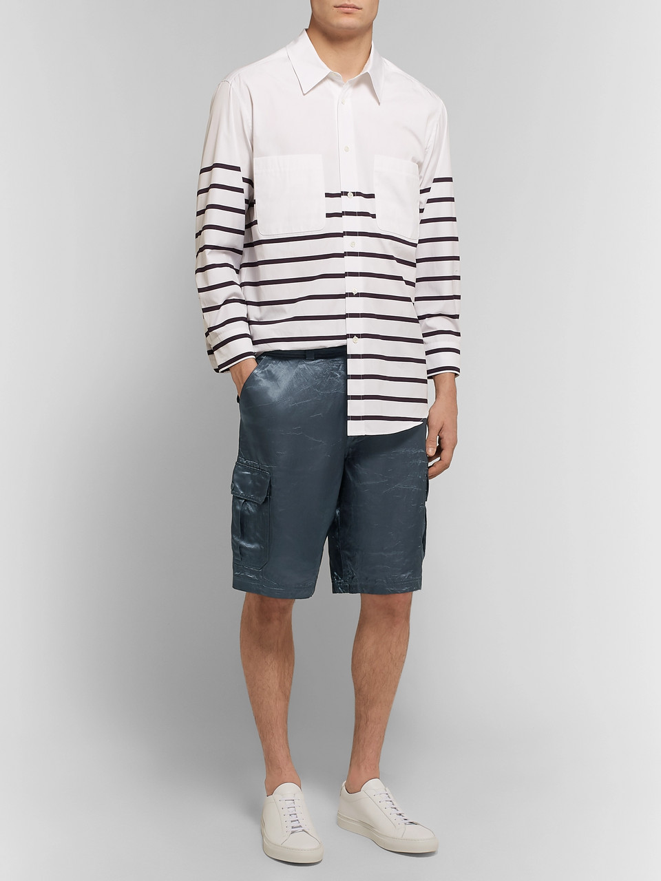 Sies Marjan Elias Washed-Satin Cargo Shorts