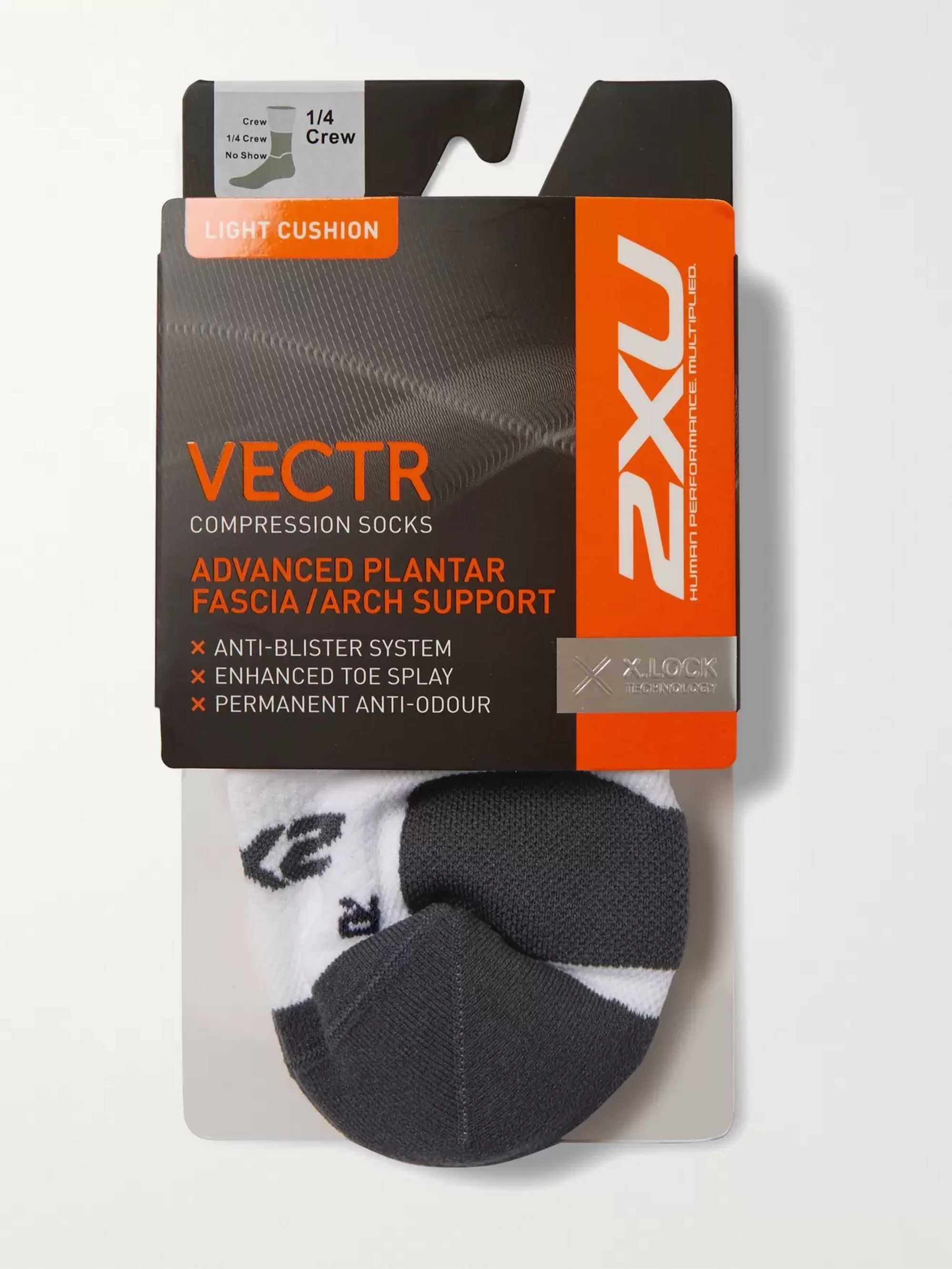 2XU Vectr Stretch-Knit Crew Socks