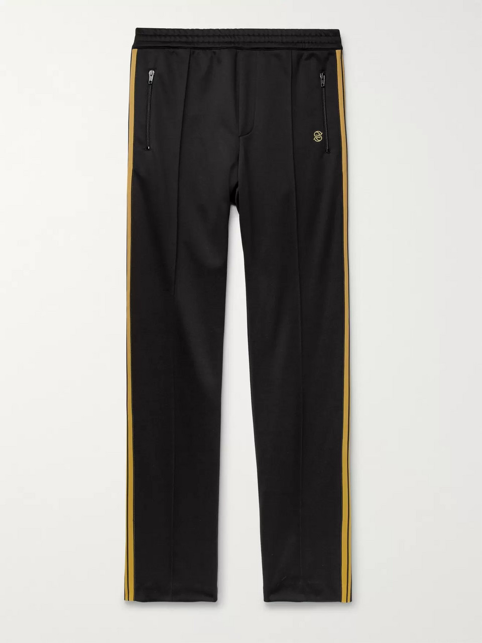 Stella McCartney Slim-Fit Striped Tech-Jersey Track Pants