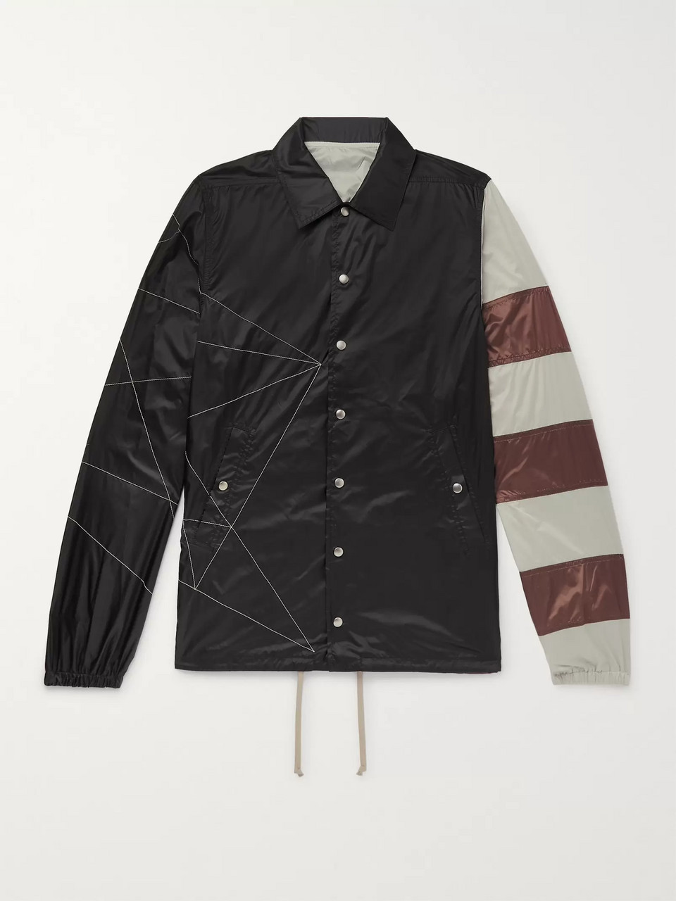 Rick Owens Embroidered Striped Shell Jacket