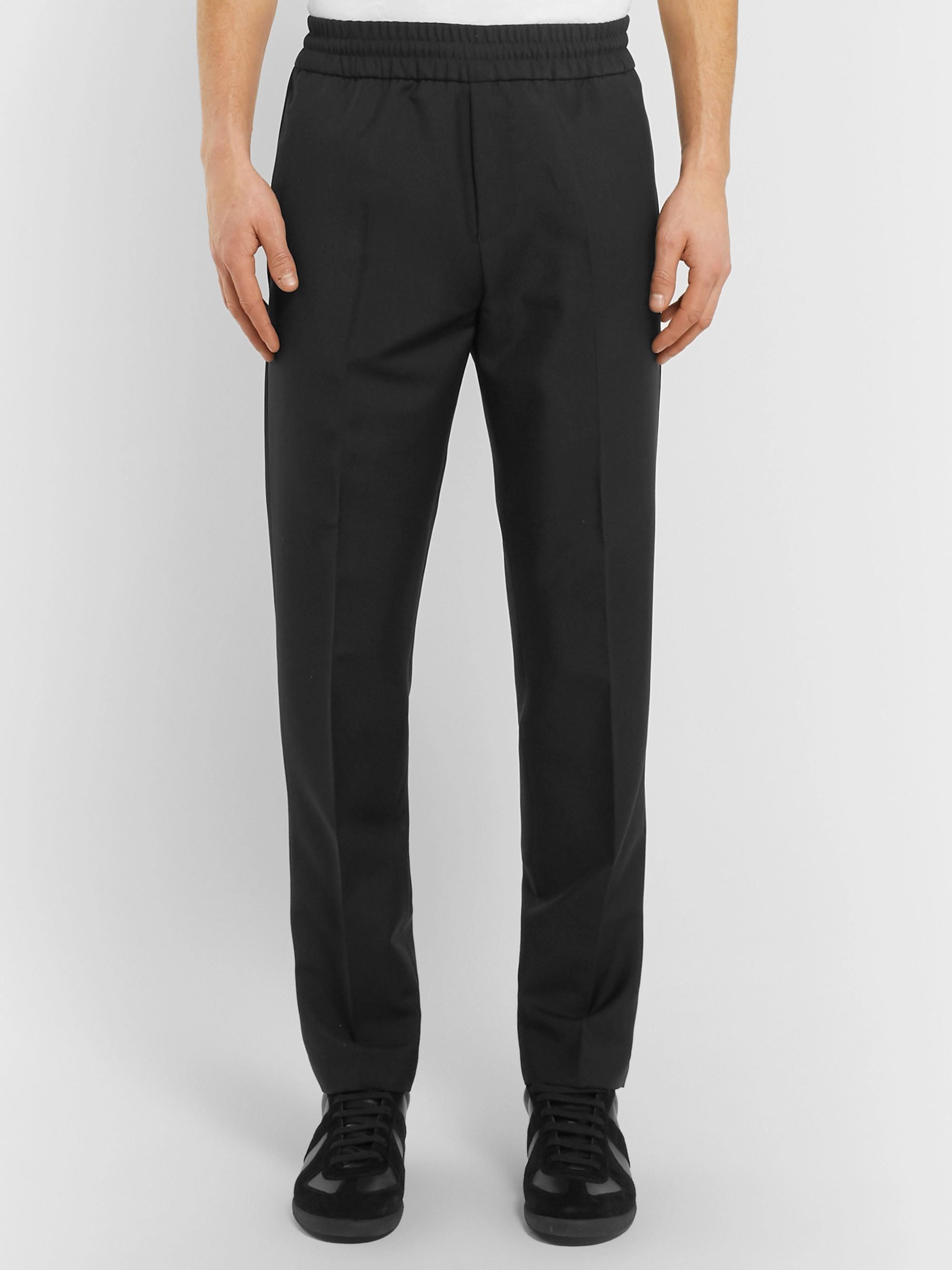 Acne Studios Black Ryder Tapered Wool and Mohair-Blend Trousers