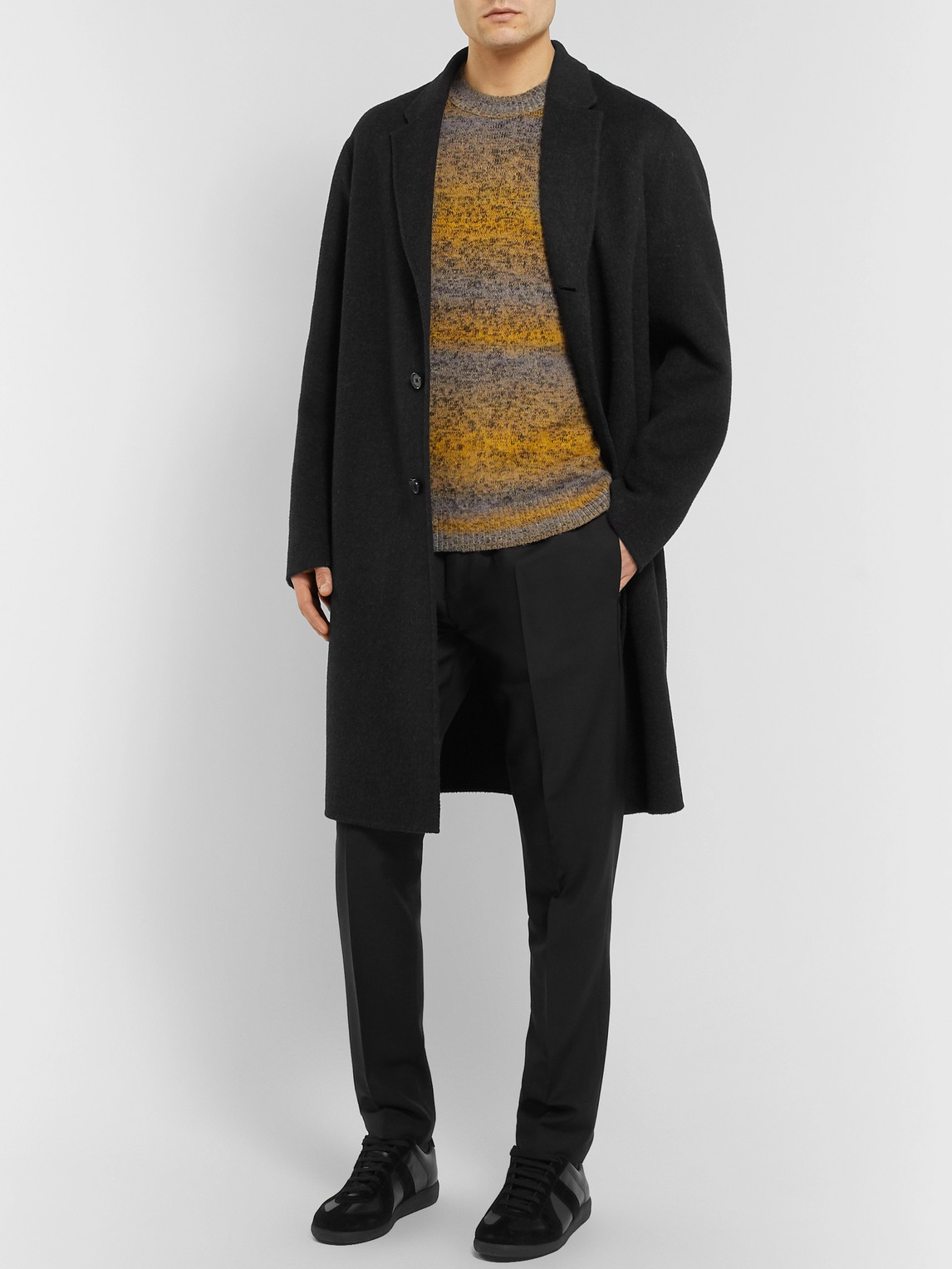 Acne Studios Pants NAVY RYDER WOOL AND MOHAIR-BLEND DRAWSTRING TROUSERS