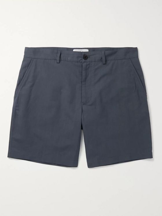 Mr P. Linen and Cotton-Blend Shorts