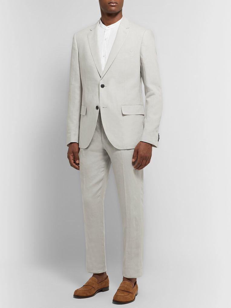 Club Monaco Grant Slim-Fit Linen Trousers