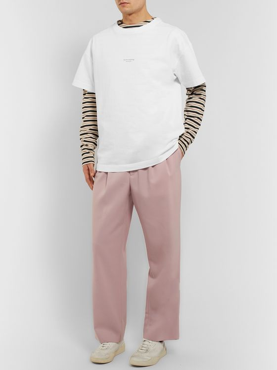 Acne Studios Oversized Logo-Print Garment-Dyed Cotton-Jersey T-Shirt
