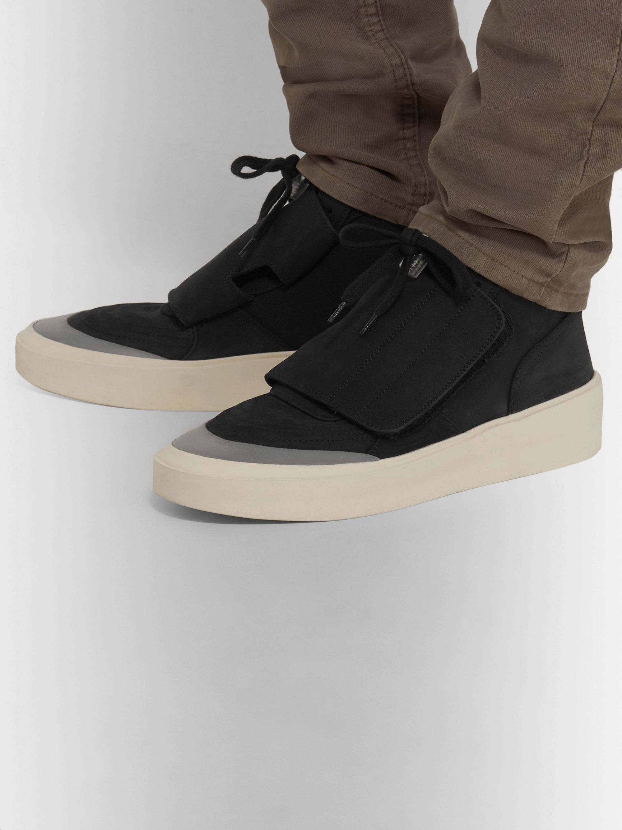 Fear of God Brushed-Suede High-Top Sneakers