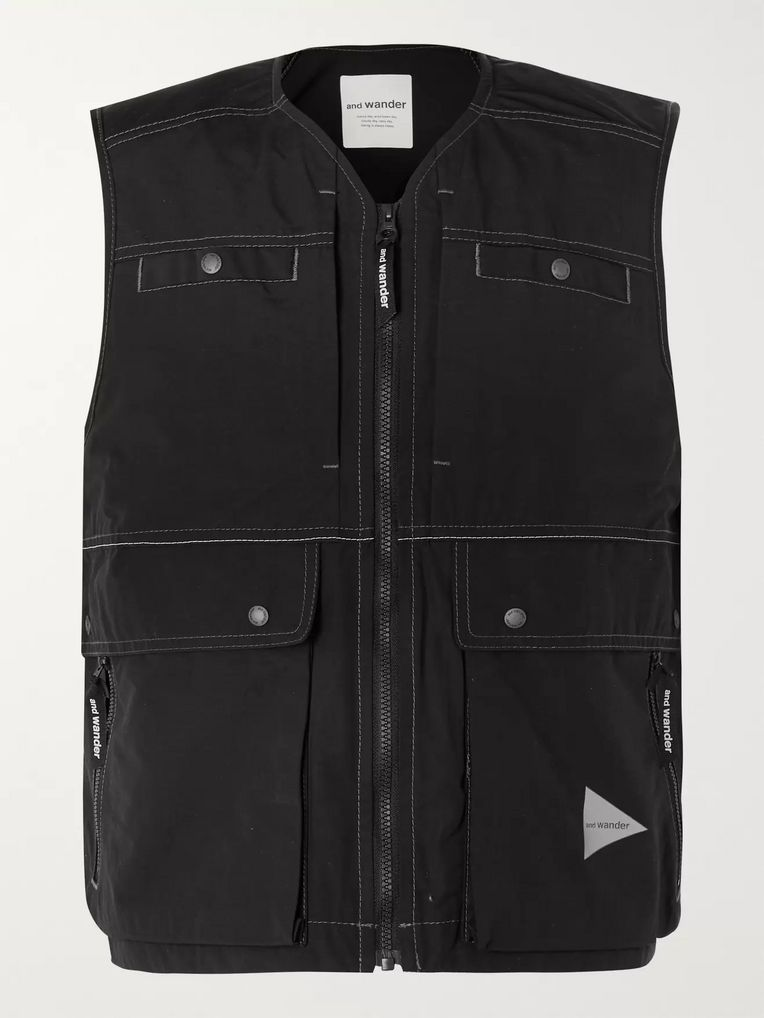 And Wander Cropped Nylon Gilet