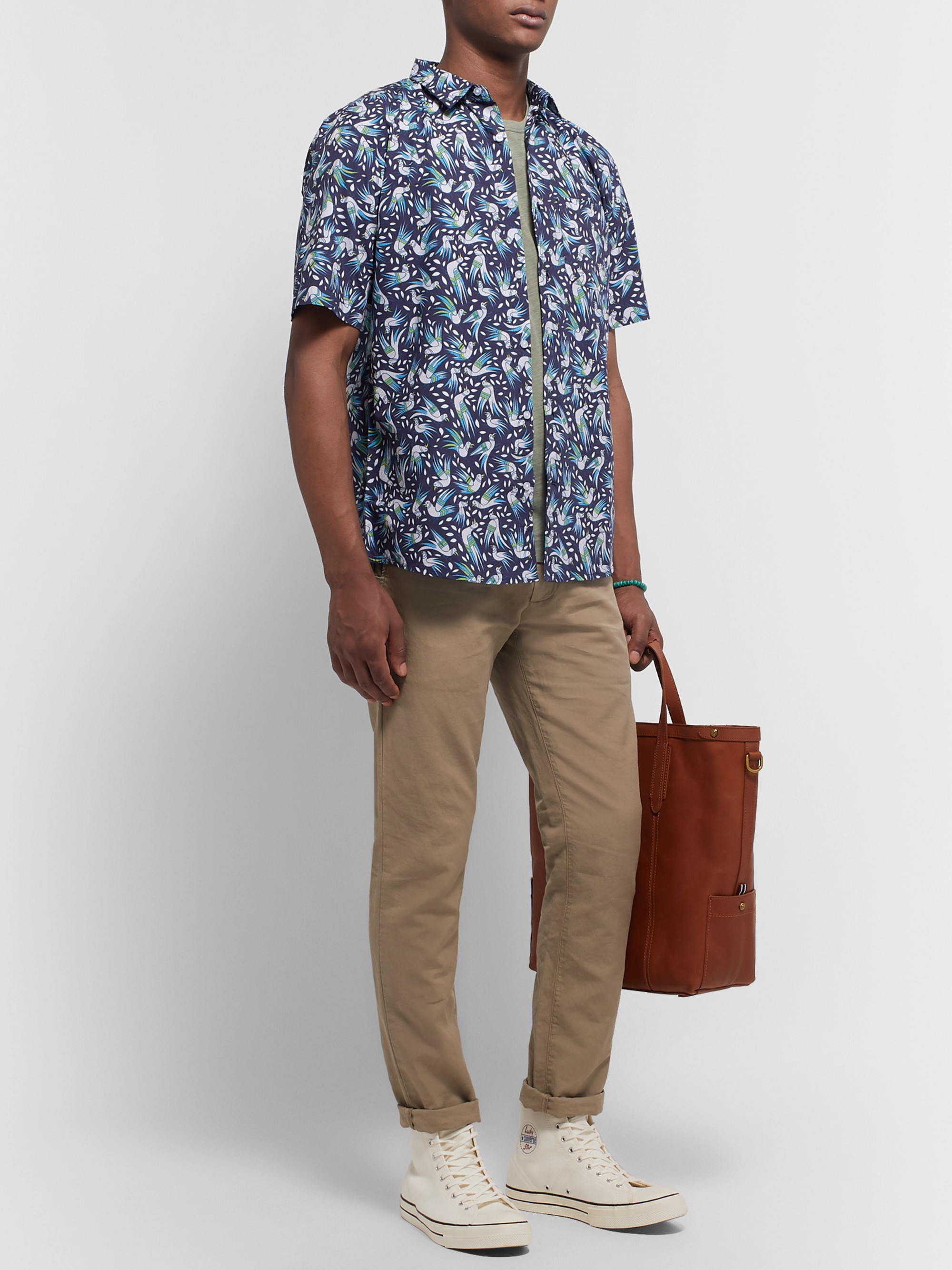 Thorsun Printed Cotton-Poplin Shirt