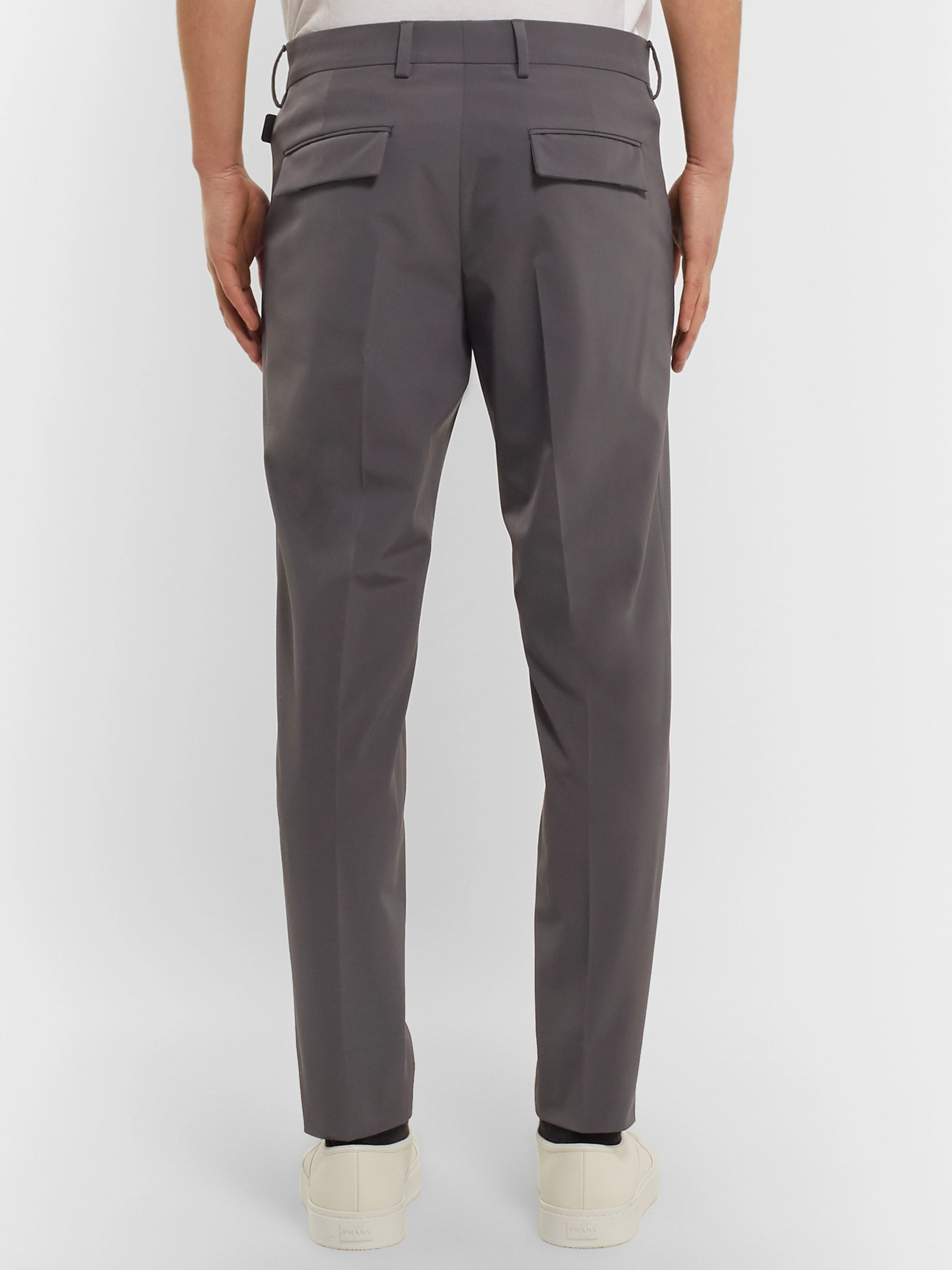Prada Grey Slim-Fit Tapered Tech-Twill Trousers