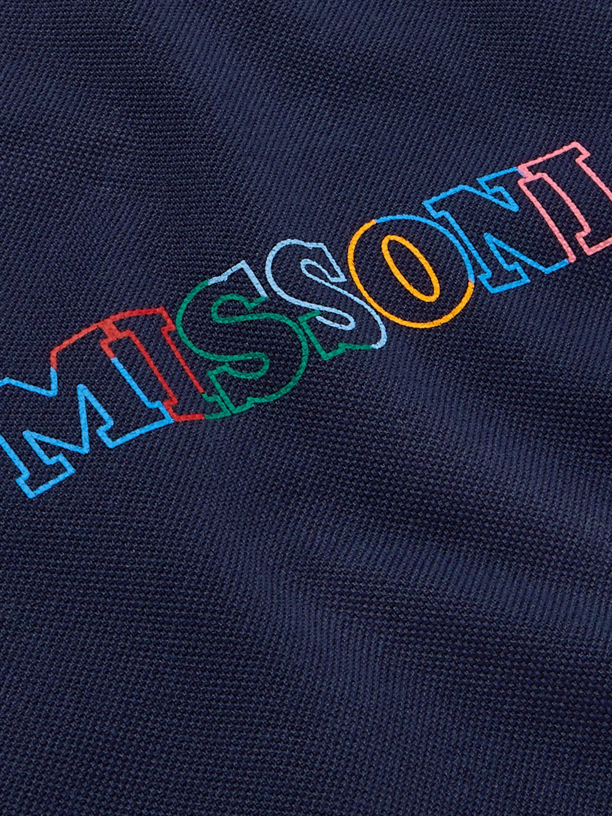 Missoni Logo-Embroidered Space-Dyed Cotton-Piqué Polo Shirt