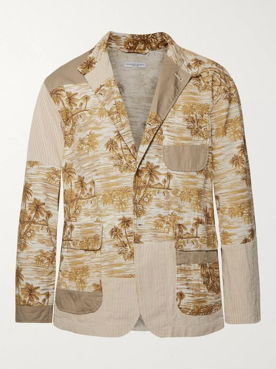 Engineered Garments Patchwork Cotton Jacket