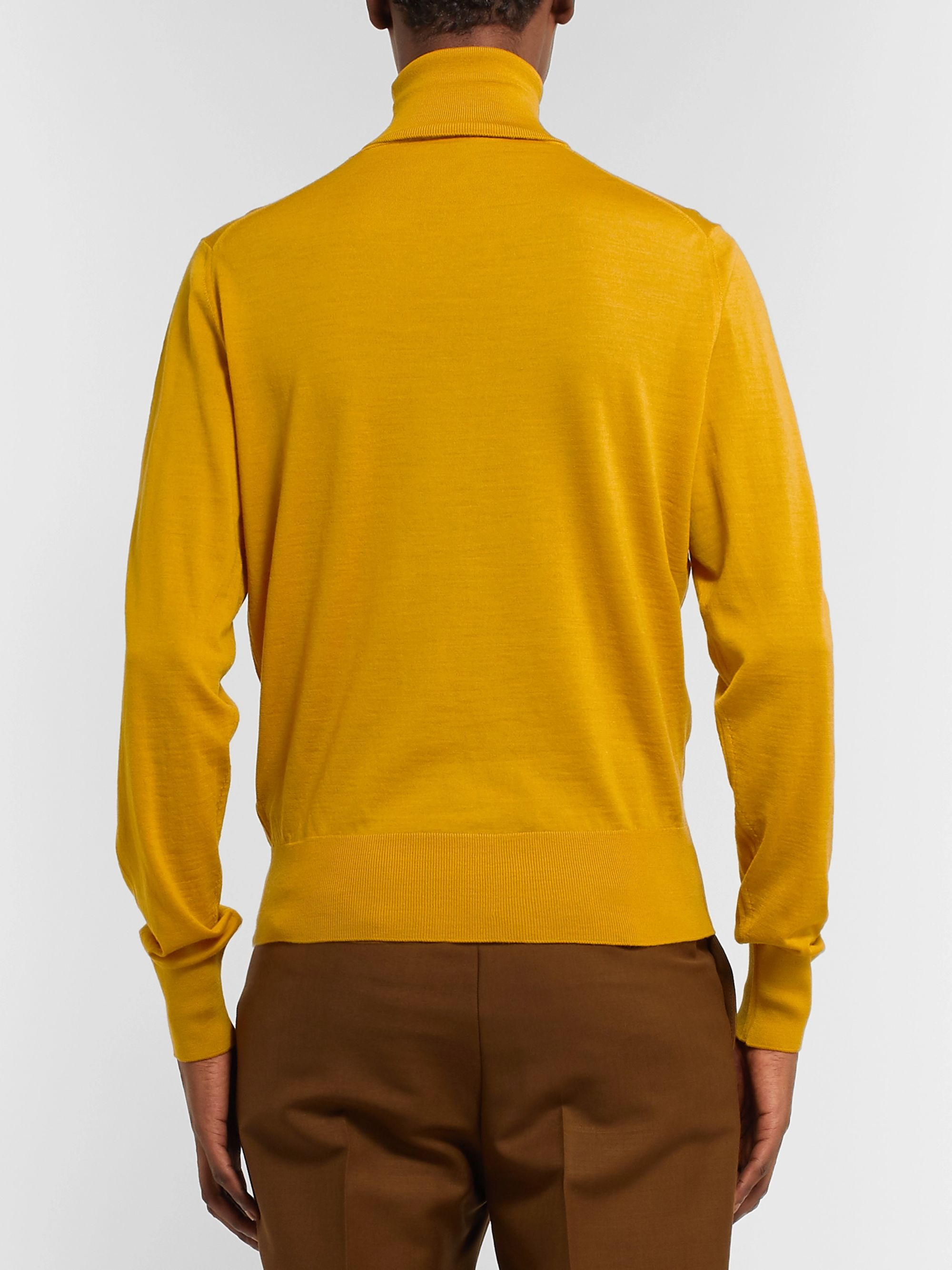 Prada Slim-Fit Logo-Intarsia Virgin Wool Rollneck Sweater