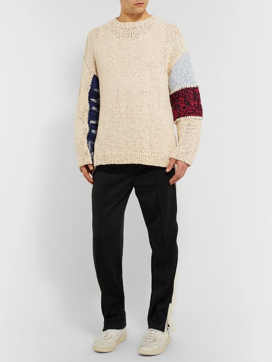 AMBUSH® Panelled Cotton-Blend Sweater