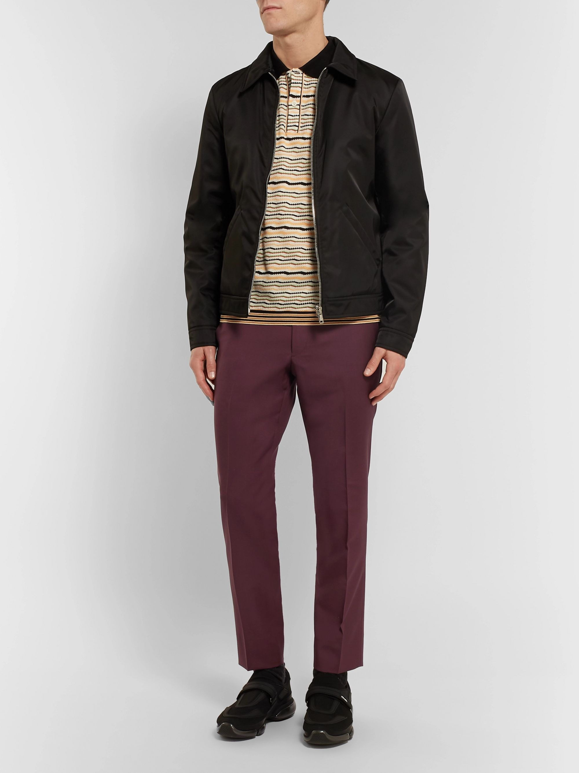 Prada Slim-Fit Cropped Virgin Wool and Mohair-Blend Trousers