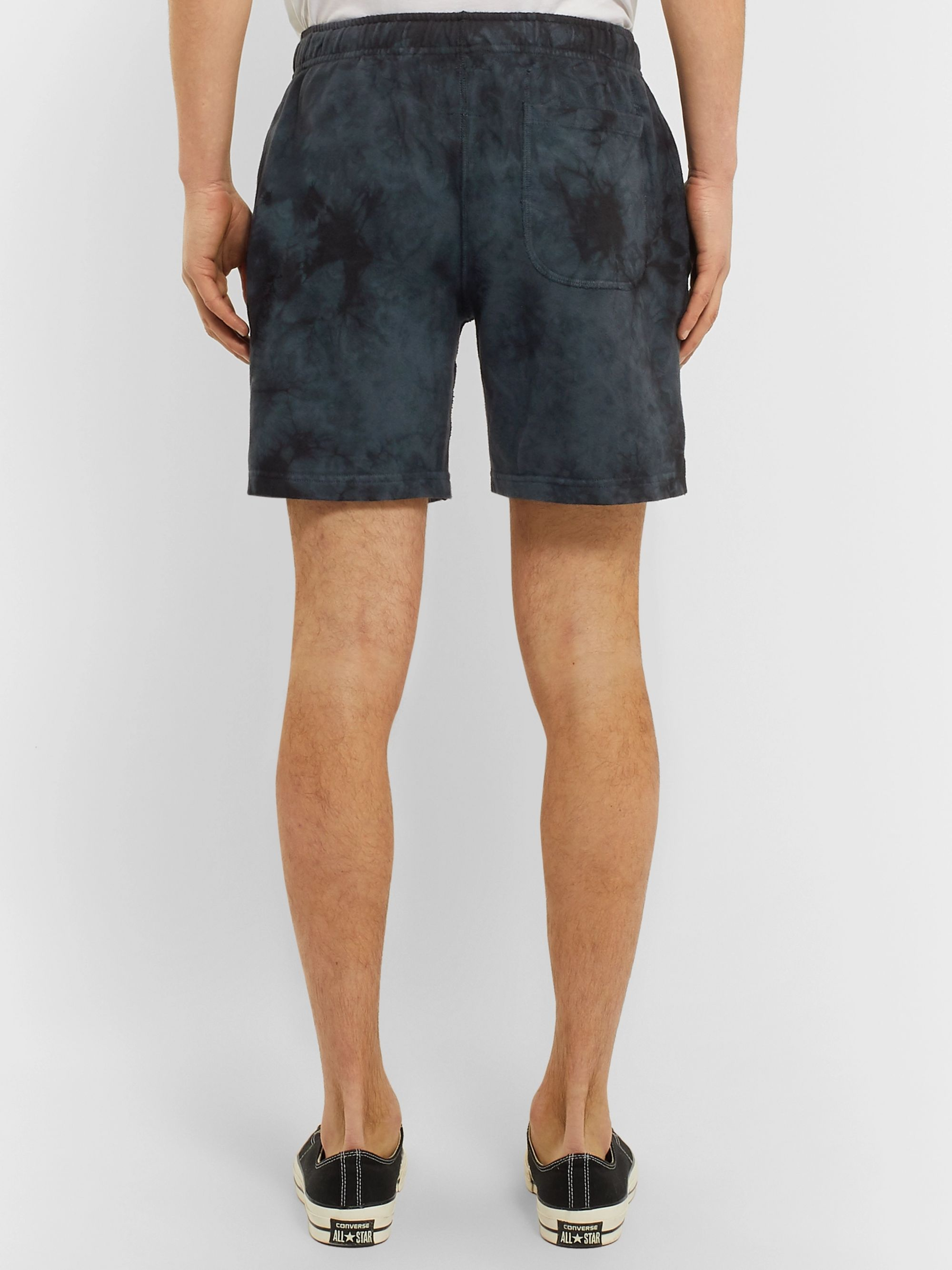 Todd Snyder + Champion Tie-Dyed Loopback Cotton-Jersey Shorts