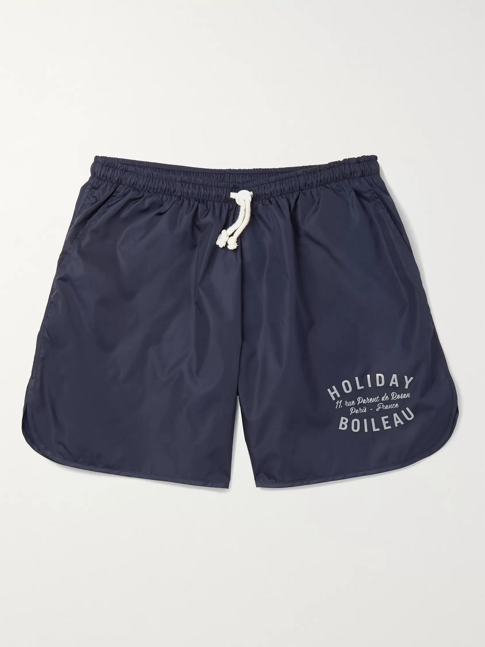 Holiday Boileau Mid-Length Logo-Print Swim Shorts