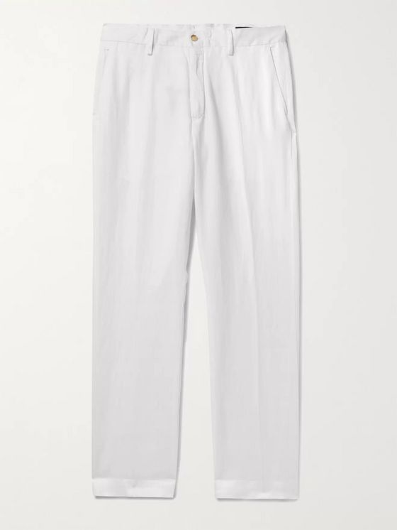 Polo Ralph Lauren Linen, Lyocell and Cotton-Blend Trousers