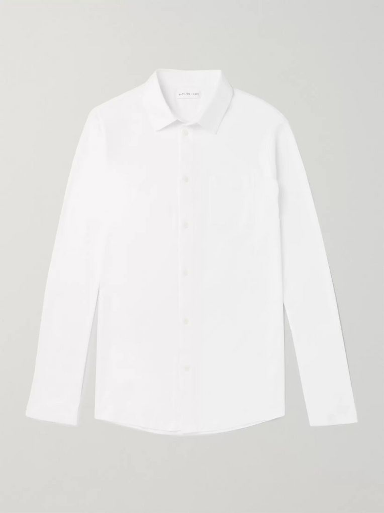 Hamilton and Hare Pima Cotton-Jersey Shirt