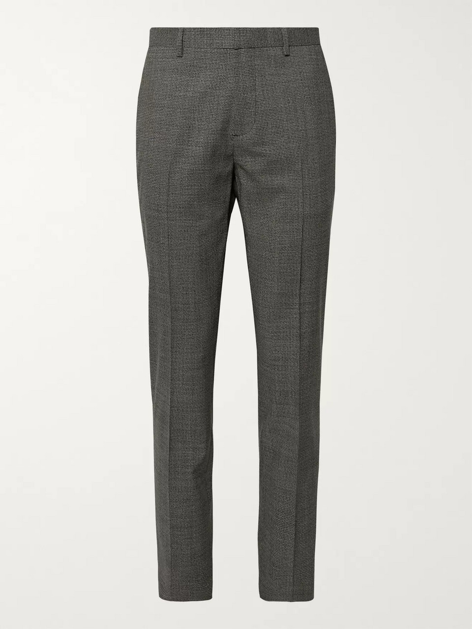 Theory Black Mayer Slim-Fit Stretch-Wool Suit Trousers
