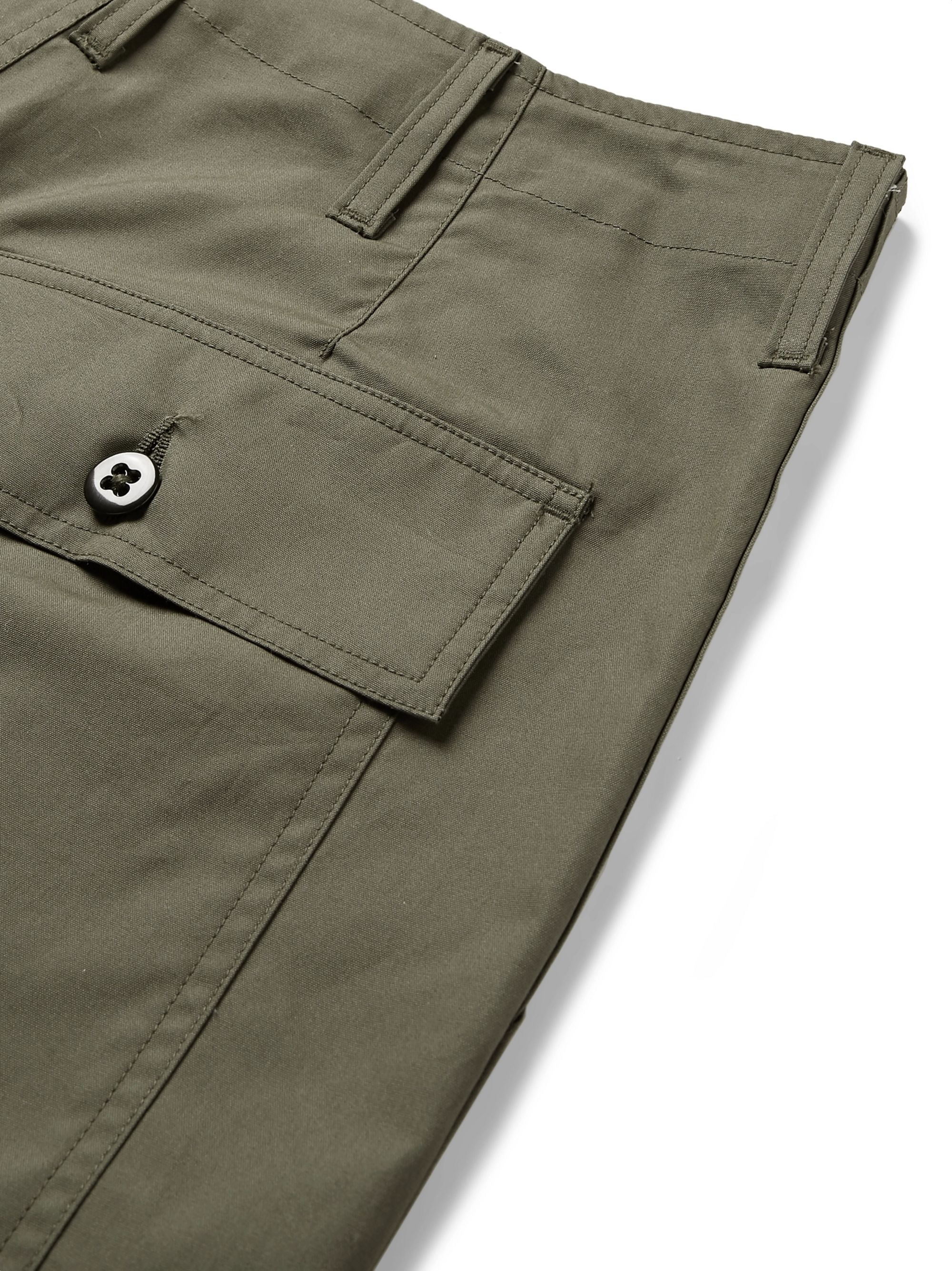 Monitaly Cotton-Canvas Shorts