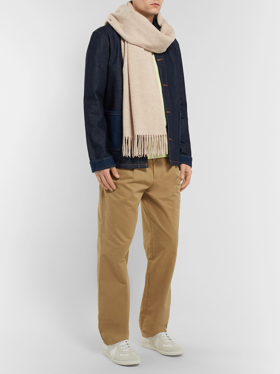 c79aaa67fd7 Neutral Canada Fringed Mélange Wool Scarf | Acne Studios | MR PORTER