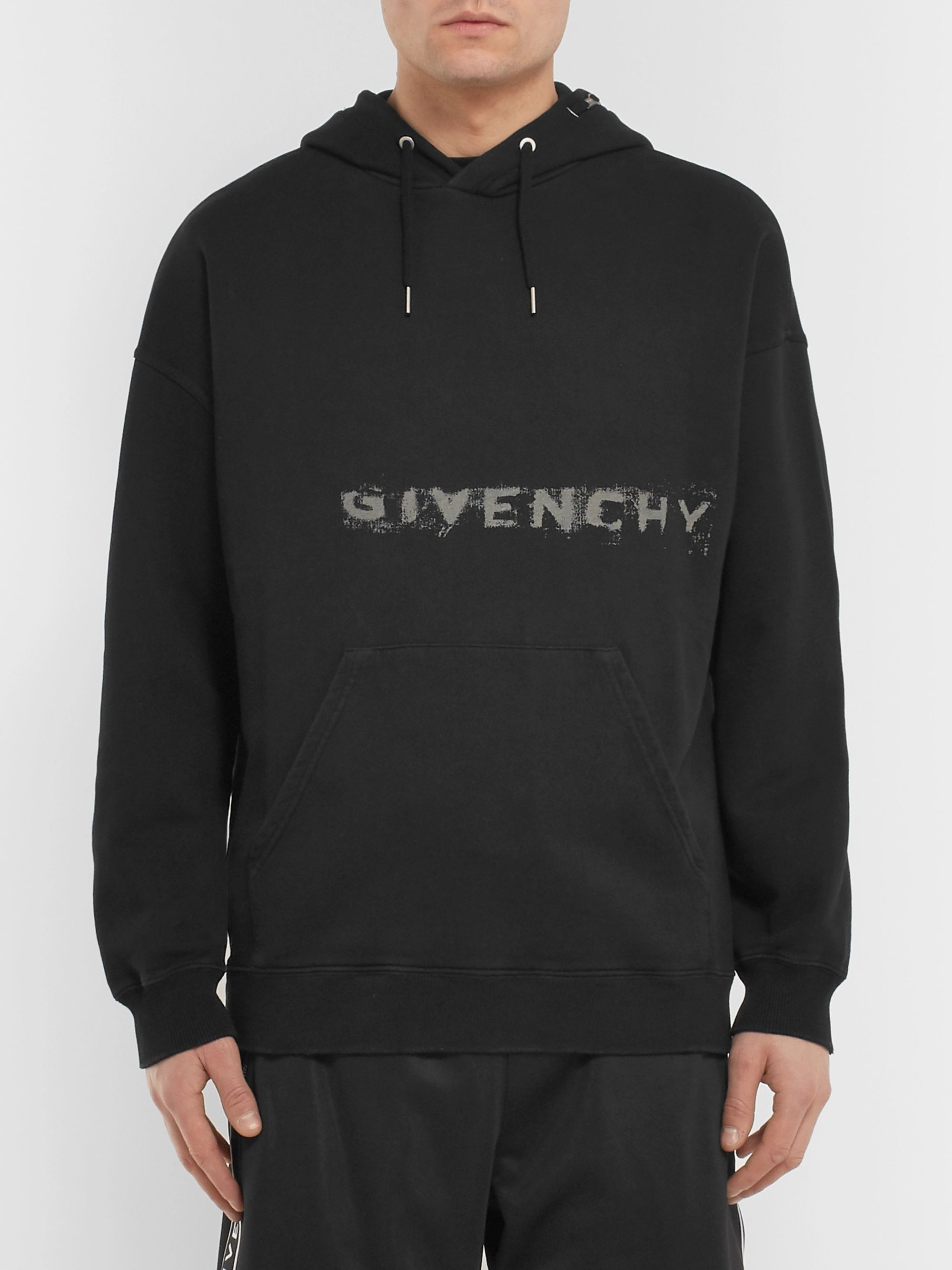 Givenchy Logo-Print Loopback Cotton-Jersey Hoodie