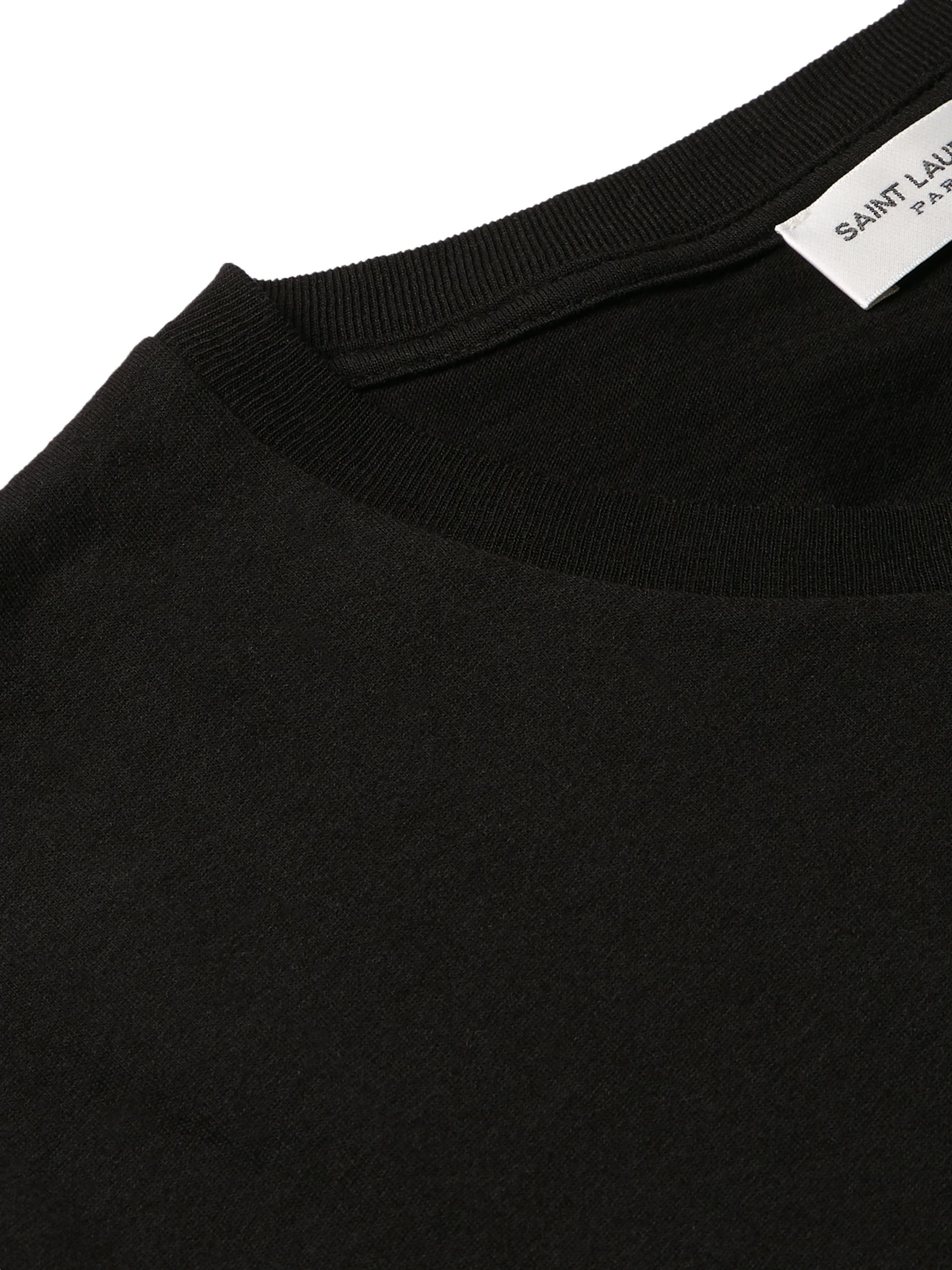 SAINT LAURENT Logo-Print Cotton-Jersey T-Shirt