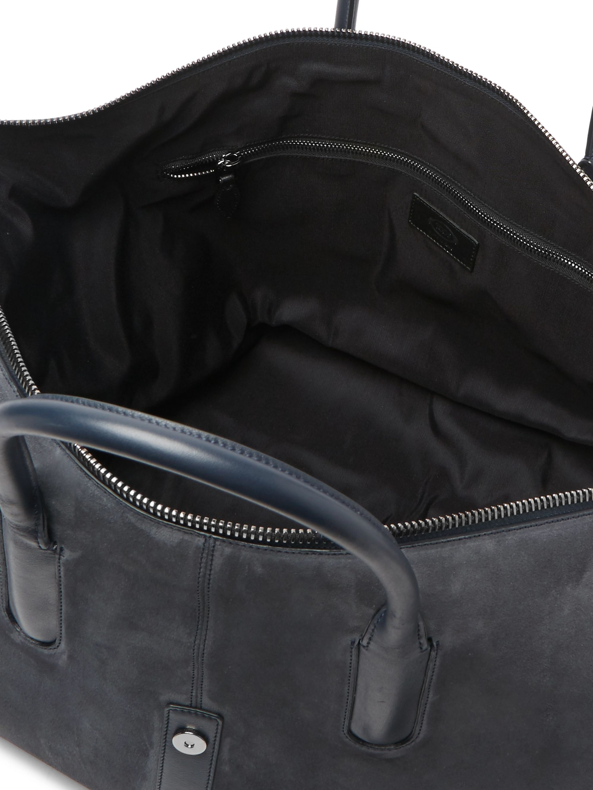 Tod's Leather-Trimmed Suede Holdall