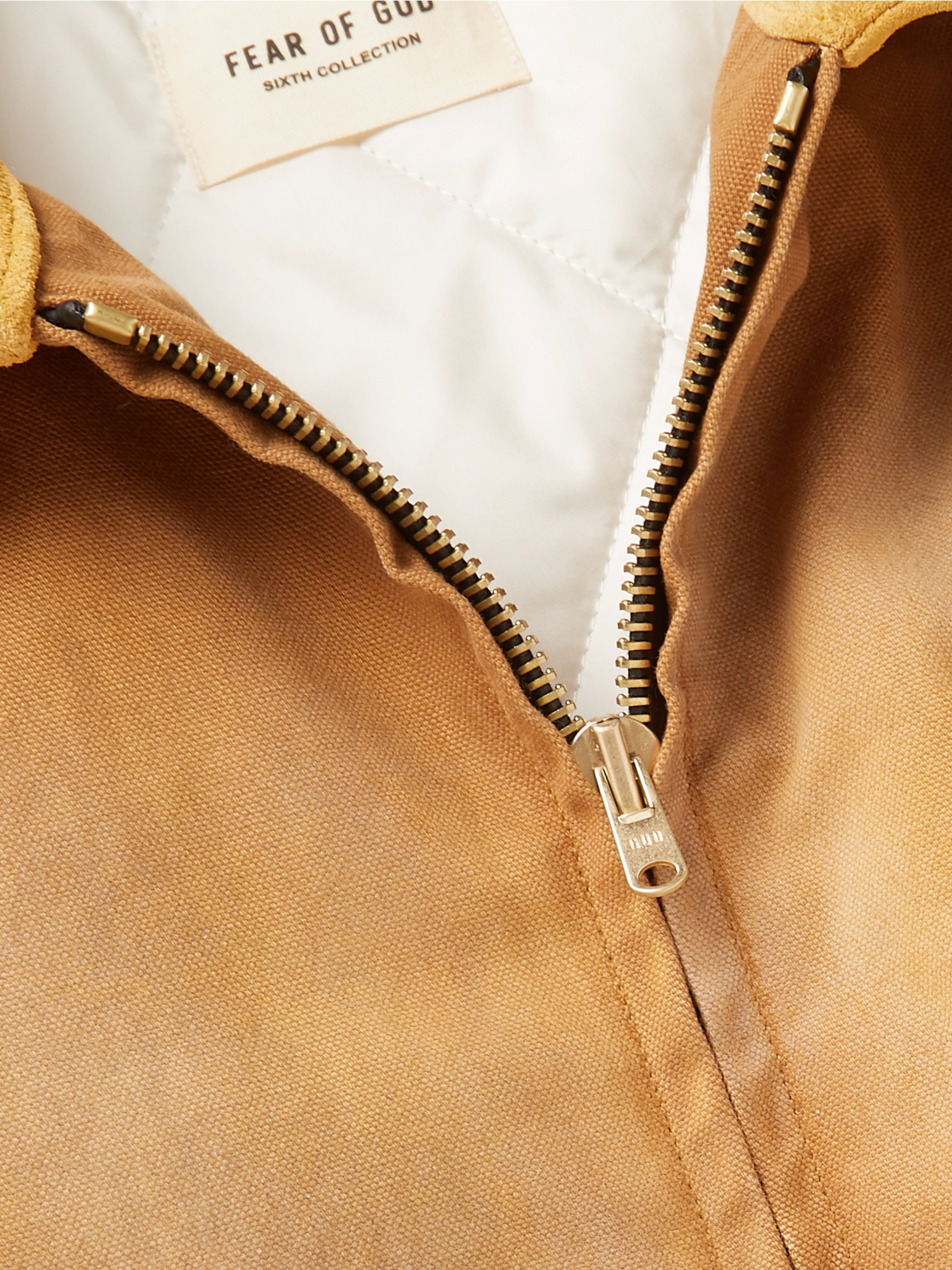 Fear of God Suede-Trimmed Cotton-Canvas Blouson Jacket
