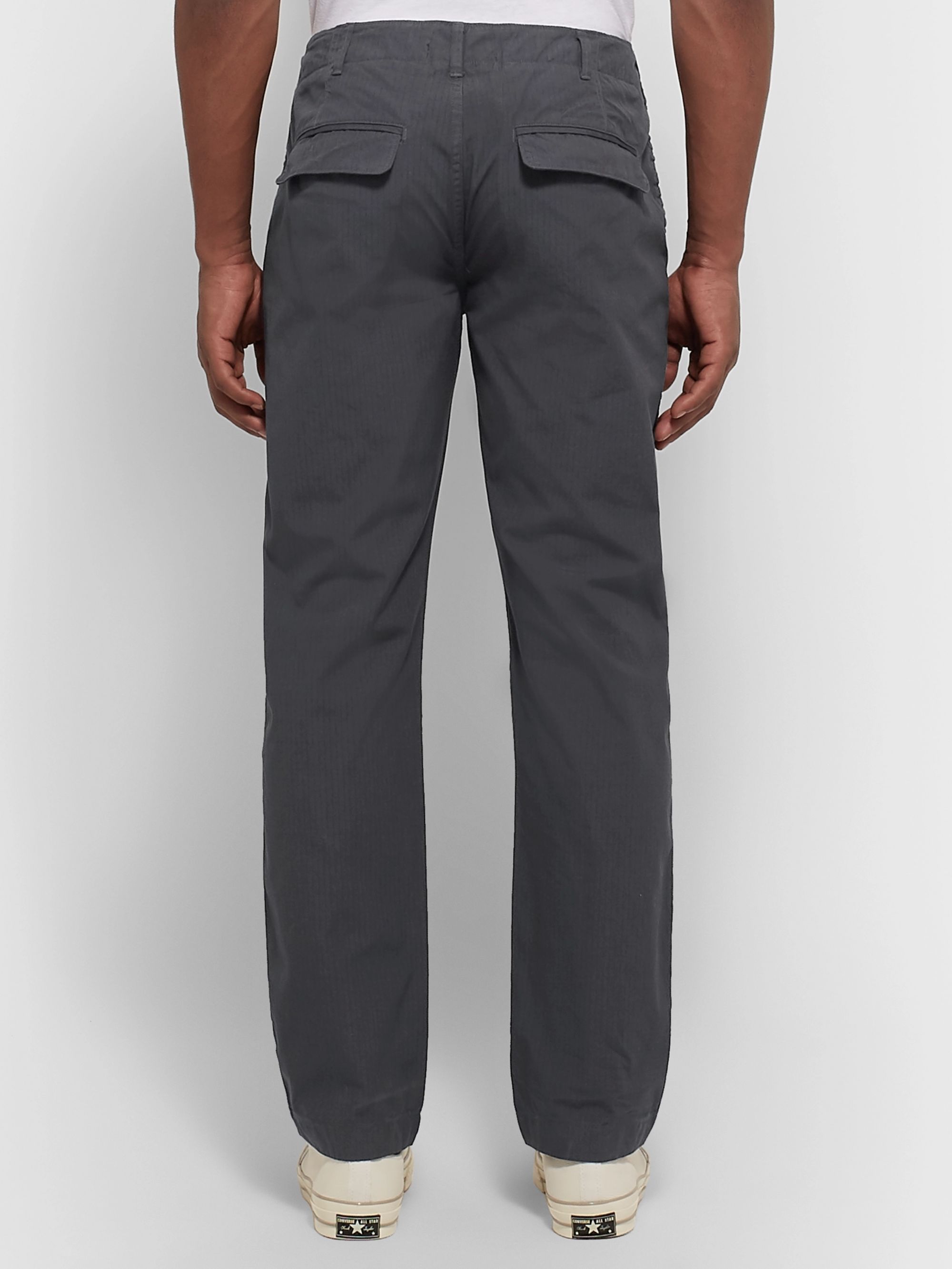 Alex Mill Charcoal Cotton-Ripstop Drawstring Trousers