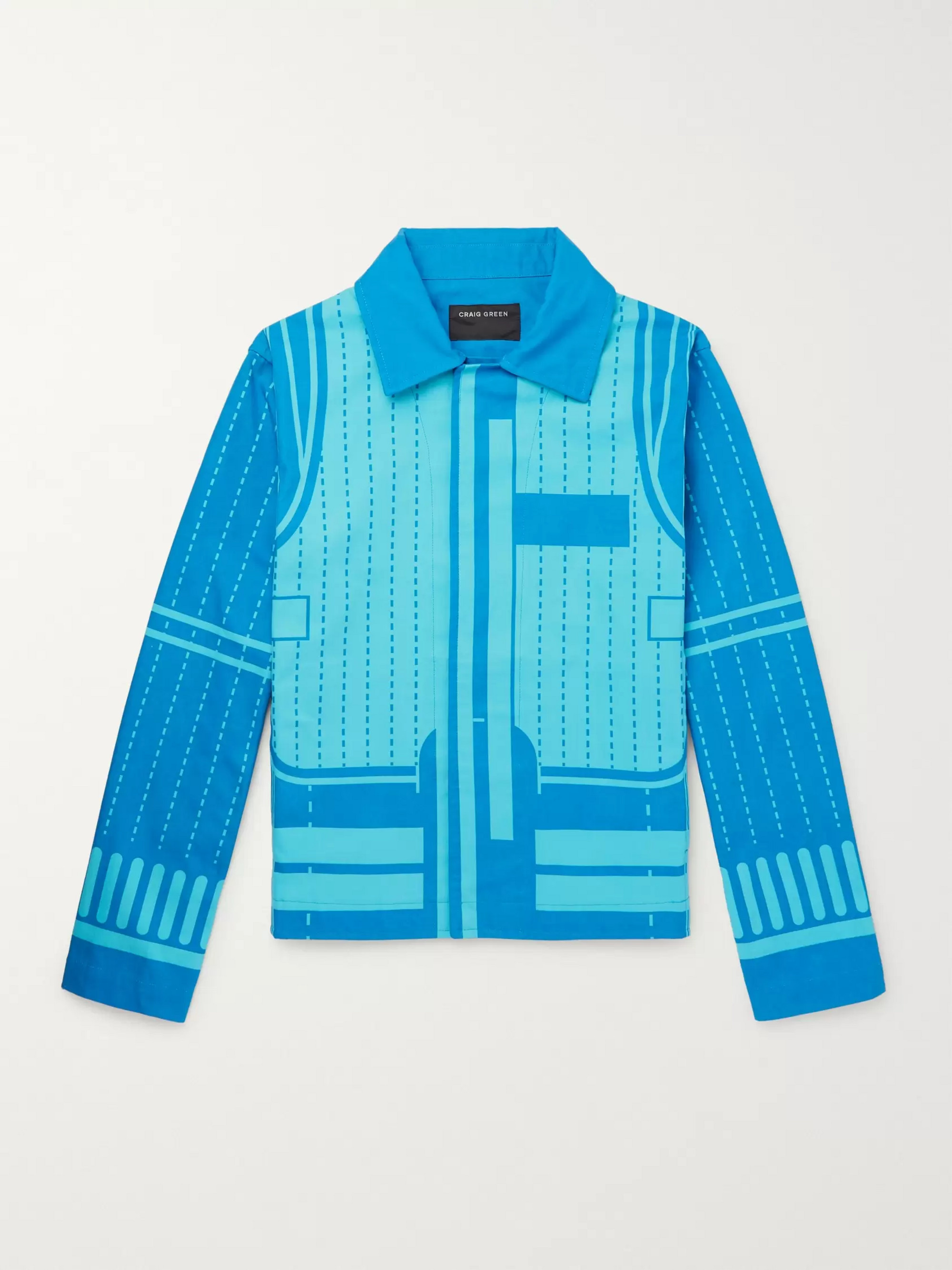 Craig Green Printed Cotton-Canvas Blouson Jacket