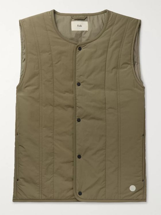 Folk Quilted Shell Gilet