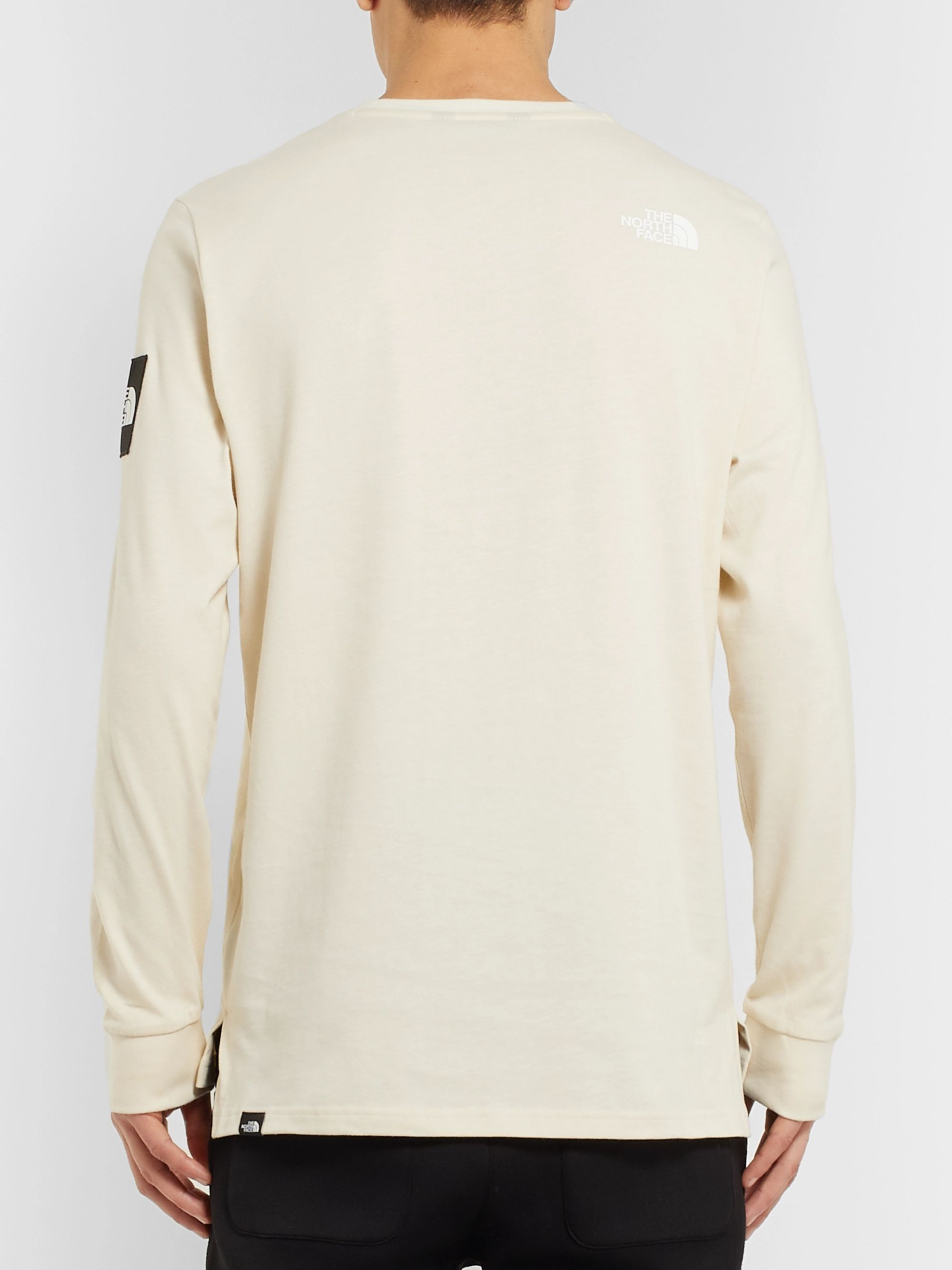 The North Face Logo-Appliquéd Fleece-Back Cotton-Jersey Sweatshirt