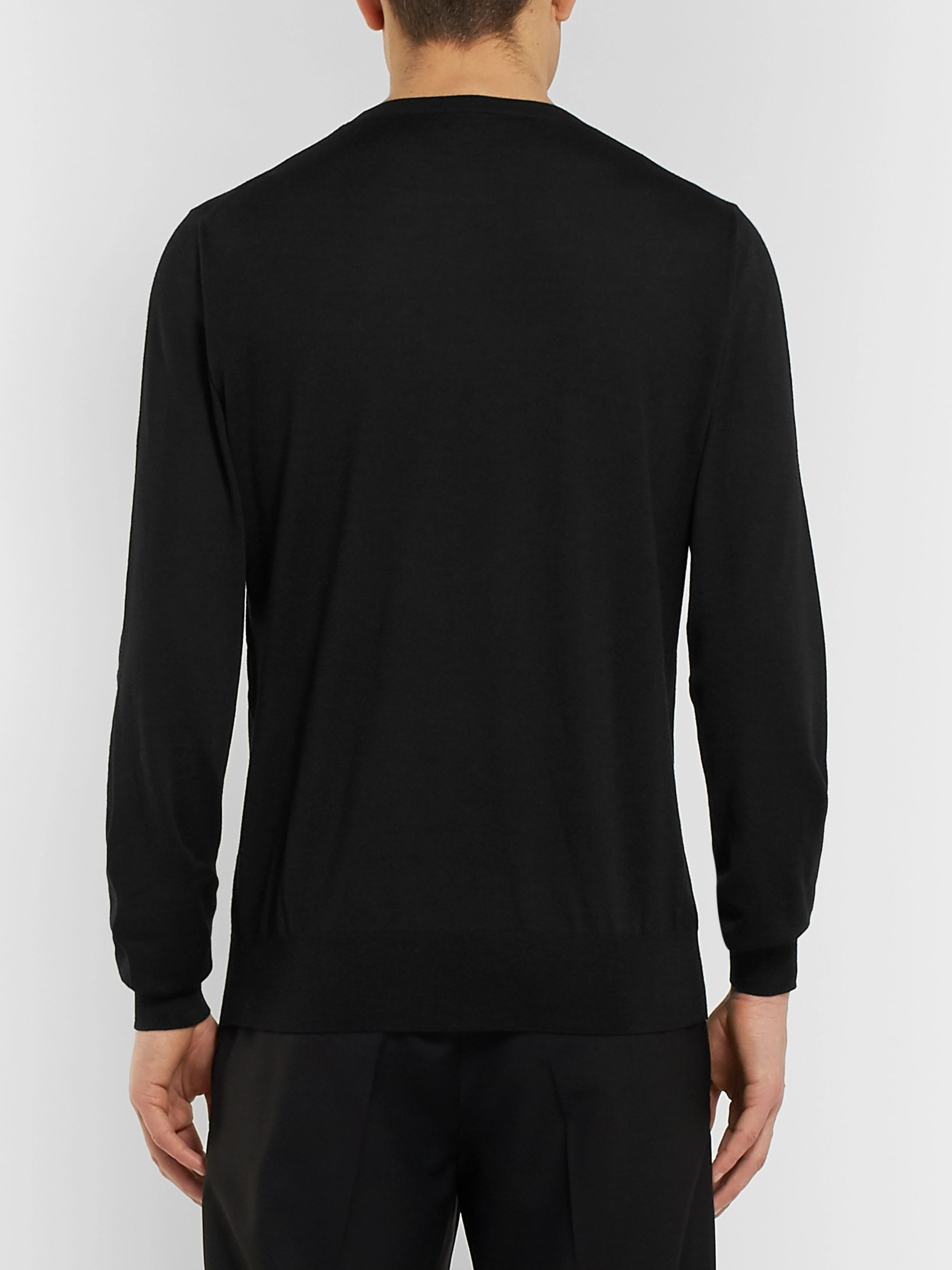 Alexander McQueen Slim-Fit Embroidered Wool Sweater