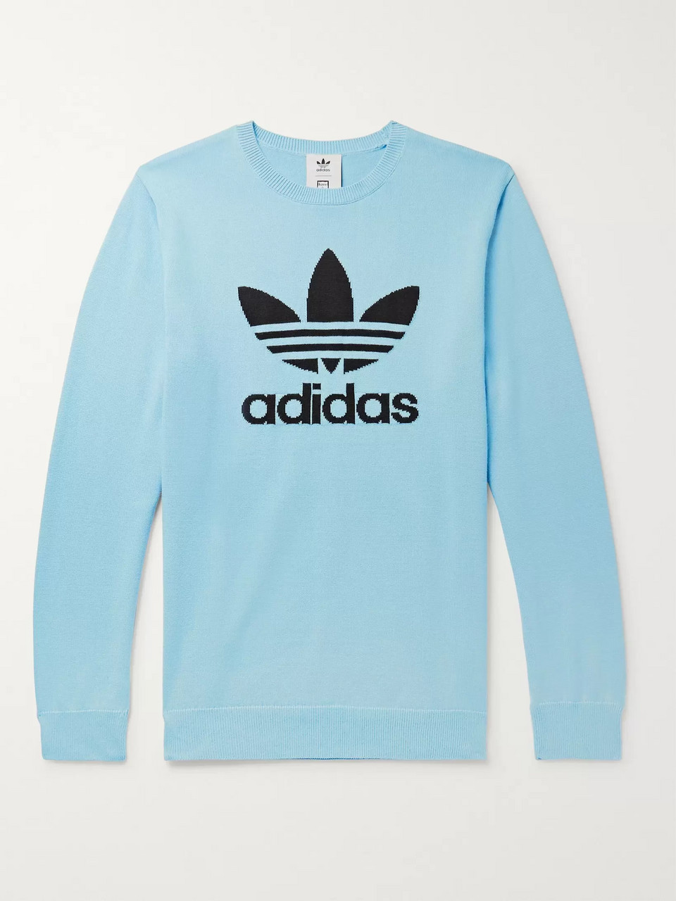 adidas Consortium + Have a Good Time Logo-Intarsia Cotton Sweater