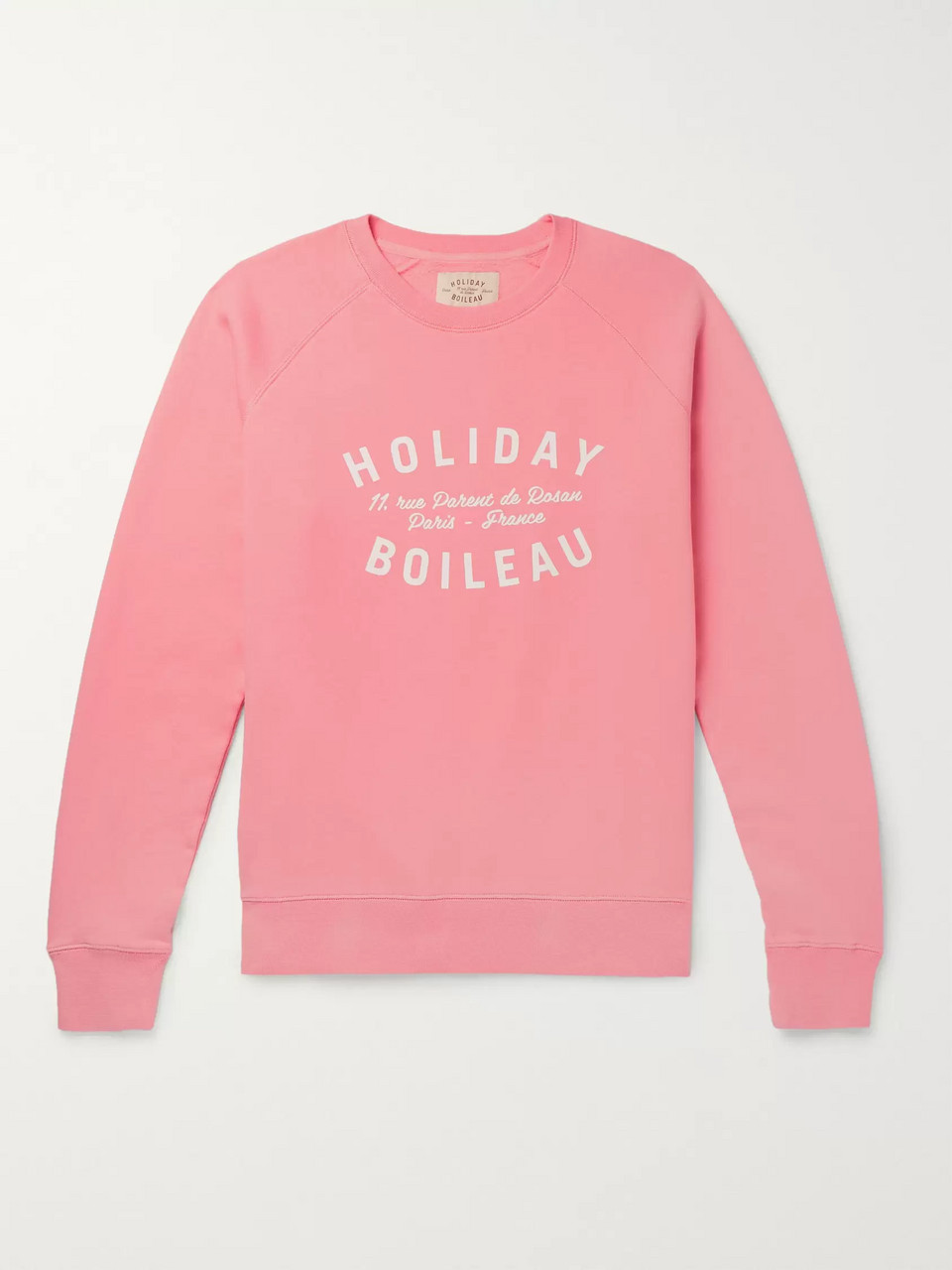 Holiday Boileau Logo-Print Fleece-Back Cotton-Jersey Sweatshirt