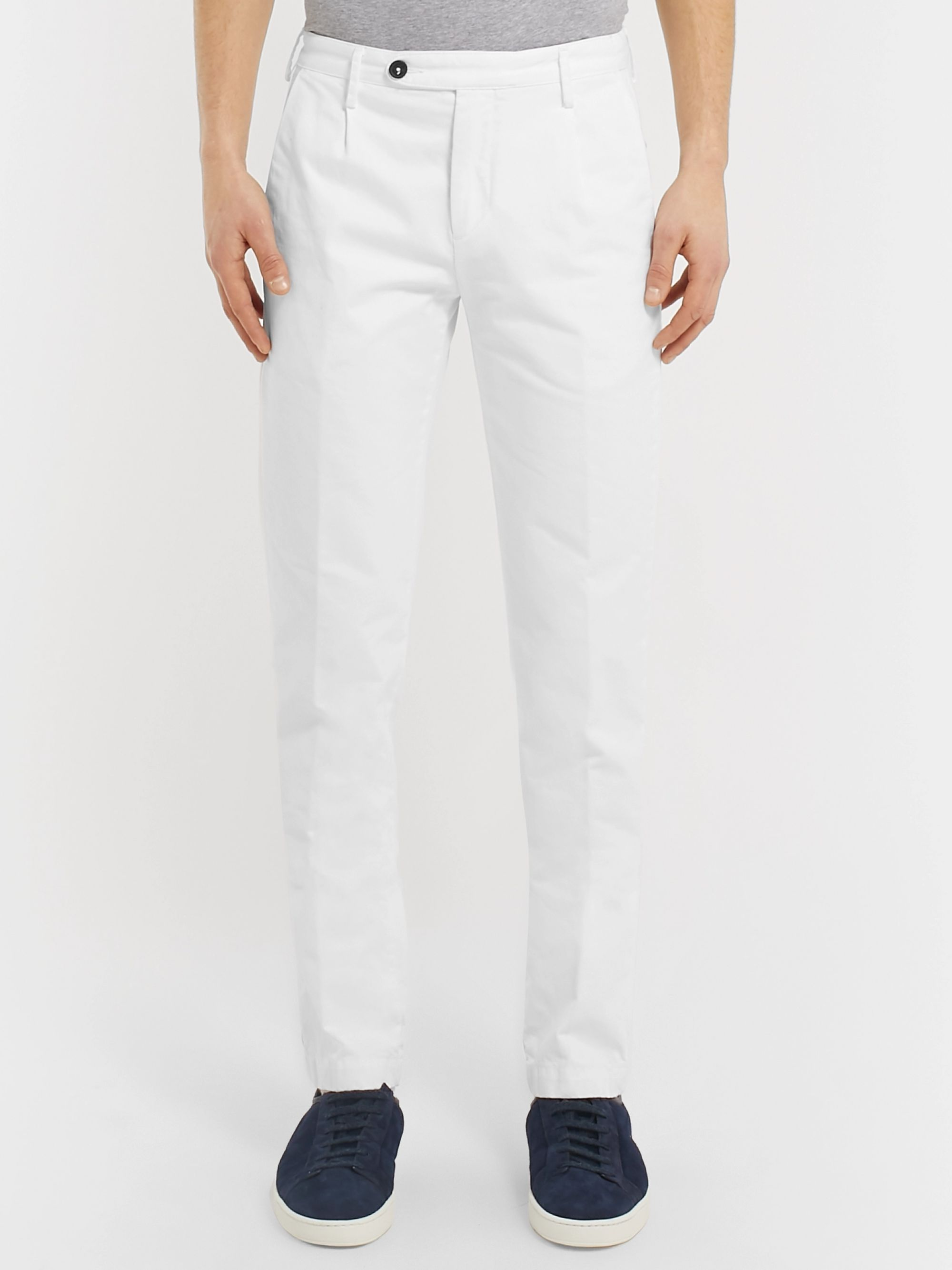 Massimo Alba Slim-Fit Cotton-Twill Trousers
