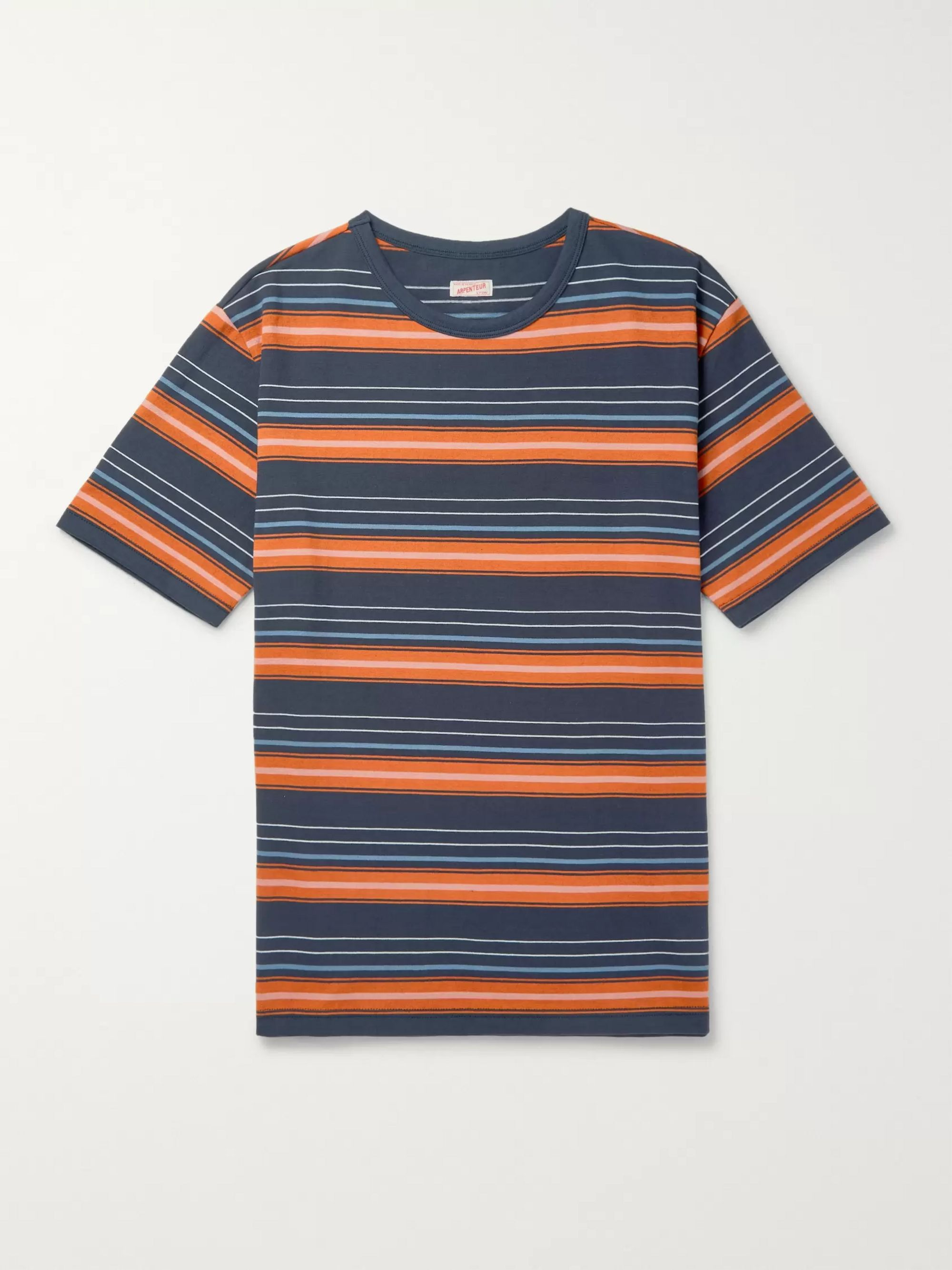 Arpenteur Striped Cotton-Jersey T-Shirt