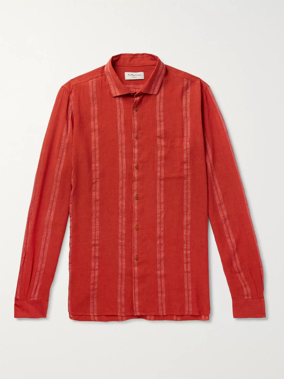 YMC Striped Gauze Shirt