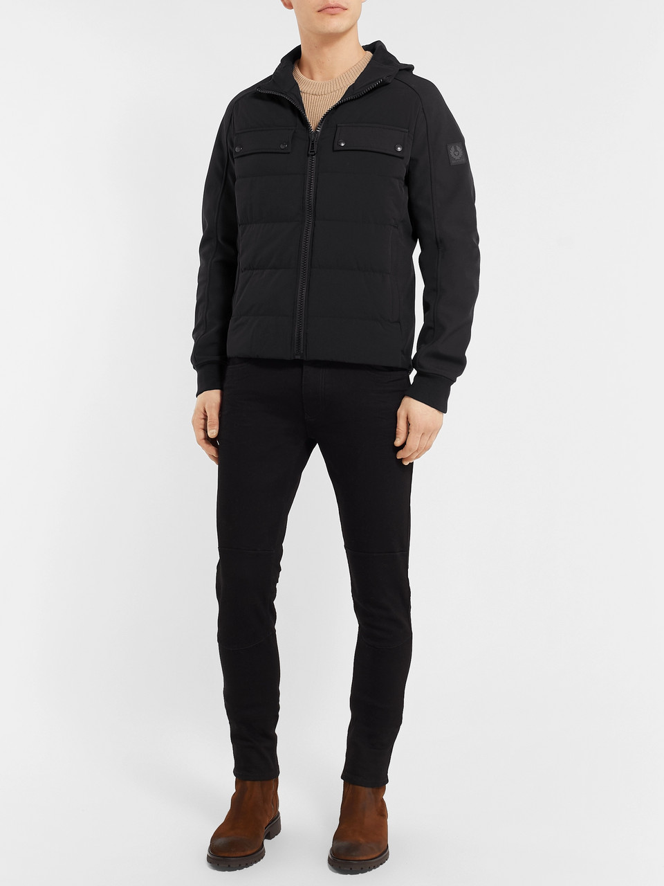 Belstaff Slim-Fit Quilted Shell Hooded Down Jacket